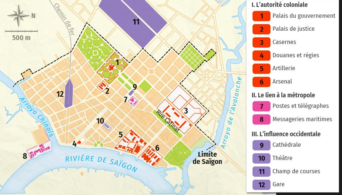 Plan de Saïgon en 1893