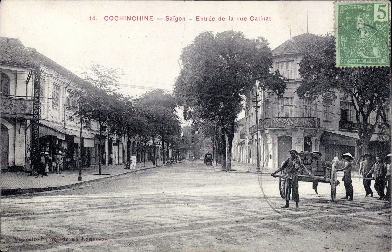 carte postale La rue Catinat