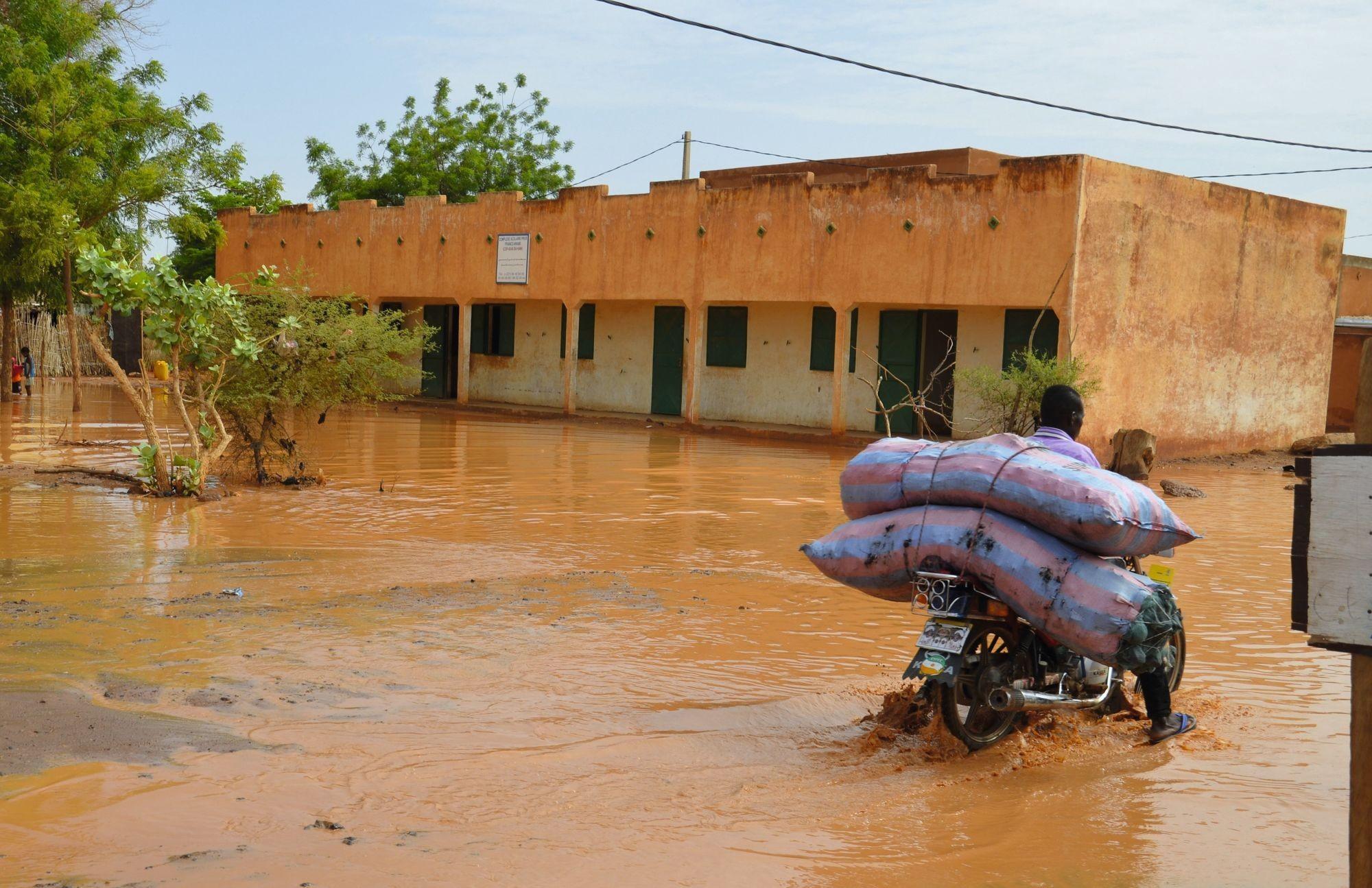 La capitale du Niger, située au bord d'un des plus grands fleuves d'Afrique, est régulièrement inondée