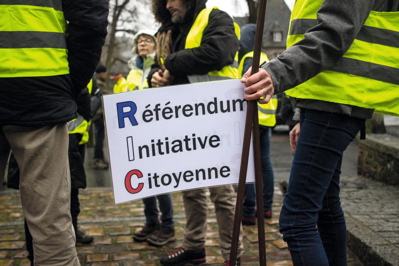 Manifestation à Dinan, 15 décembre 2018.