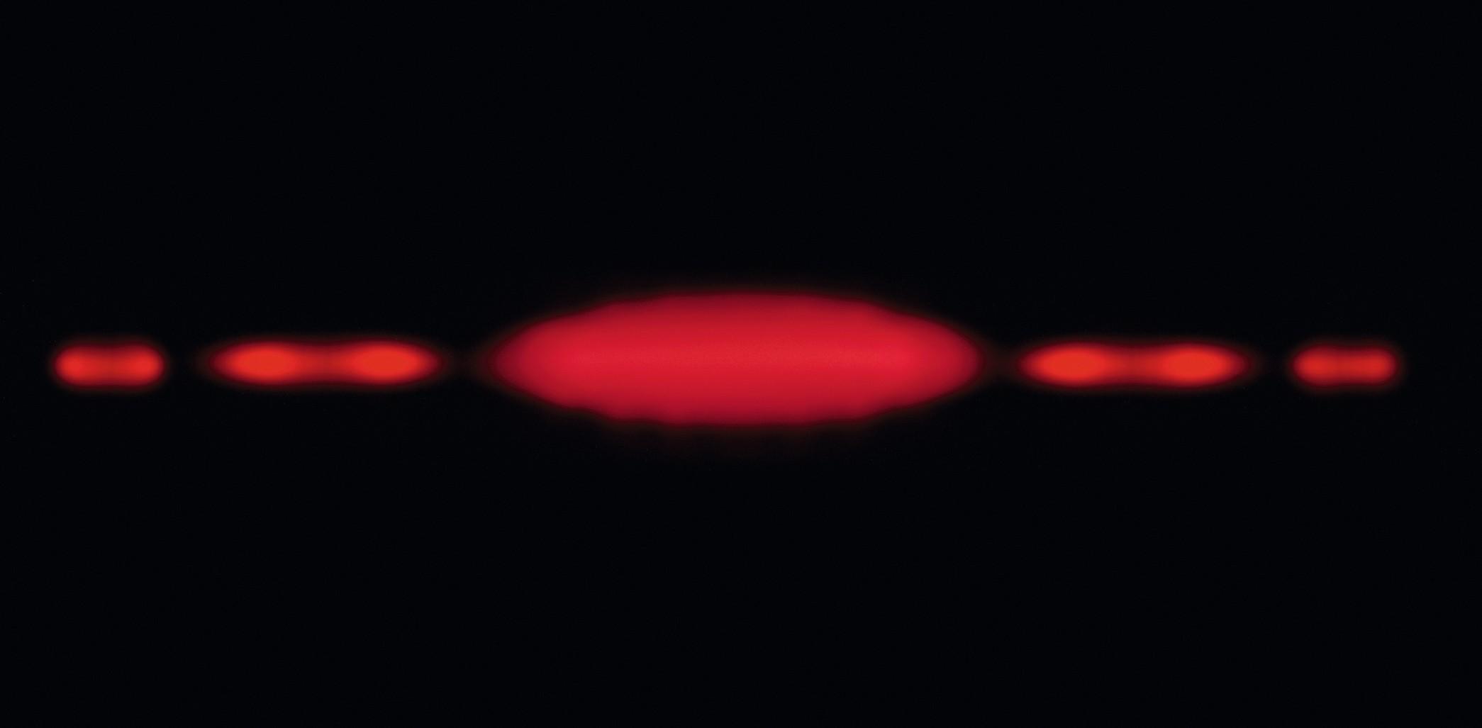 Figure de diffraction d'un faisceau laser par une fente simple