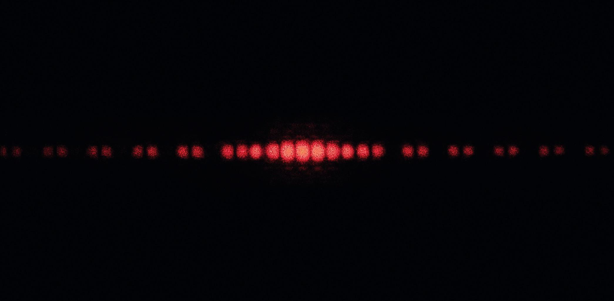 Figure d'interférence d'un faisceau laser par une double fente