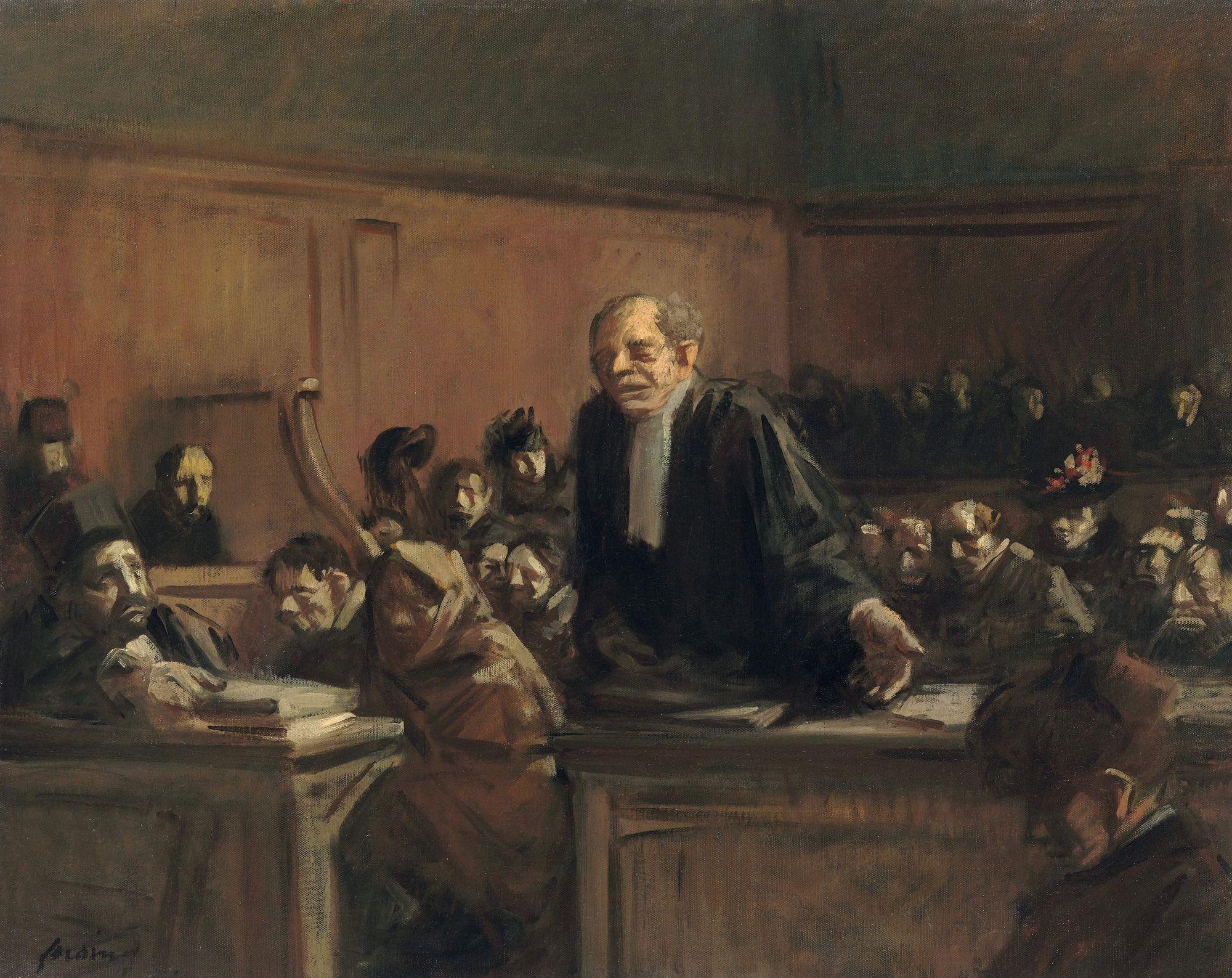 Jean-Louis Forain Scènes de tribunal