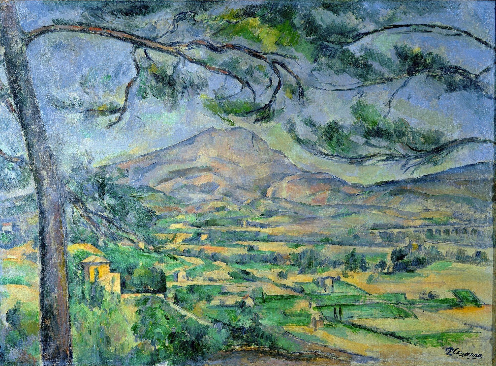 La montagne Sainte‑Victoire (près d'Aix‑en‑Provence) peinte par Cézanne