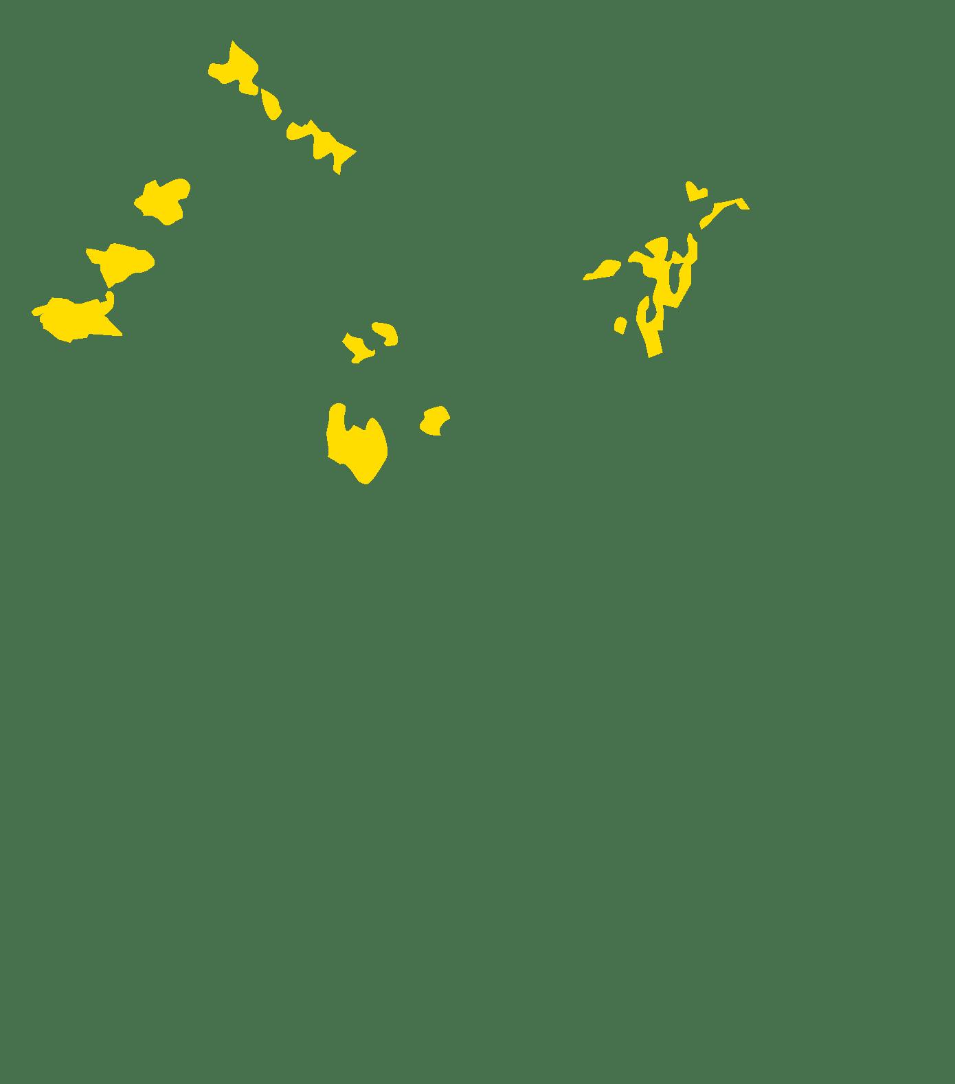 densité de population faible