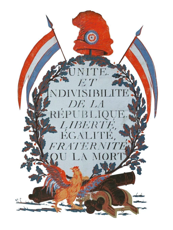 Estampe anonyme, 1793. La République met en avant de nouveaux symboles