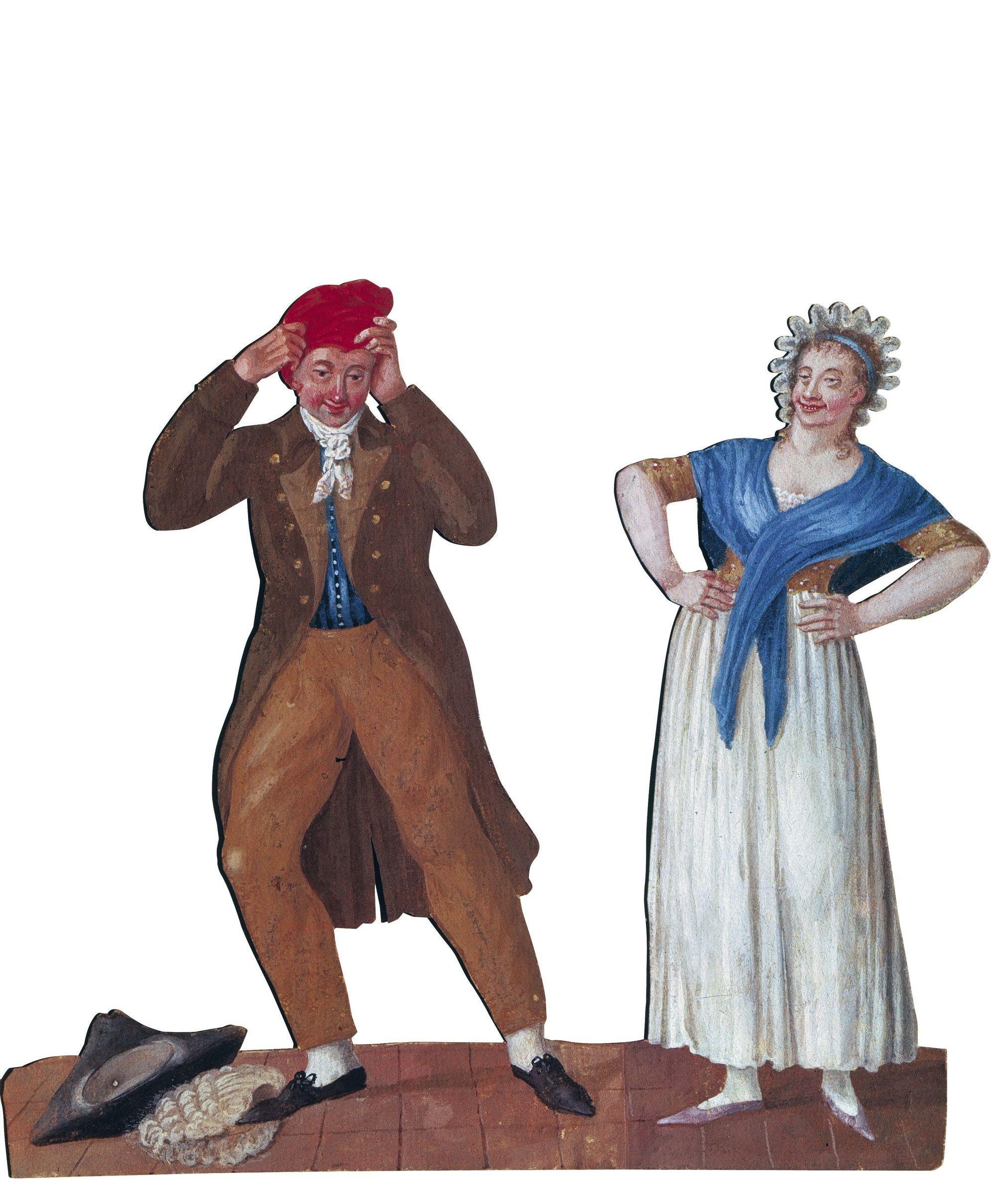 Jean-Baptiste Lesueur, Le bonnet phrygien remplaçant la perruque et le tricorne