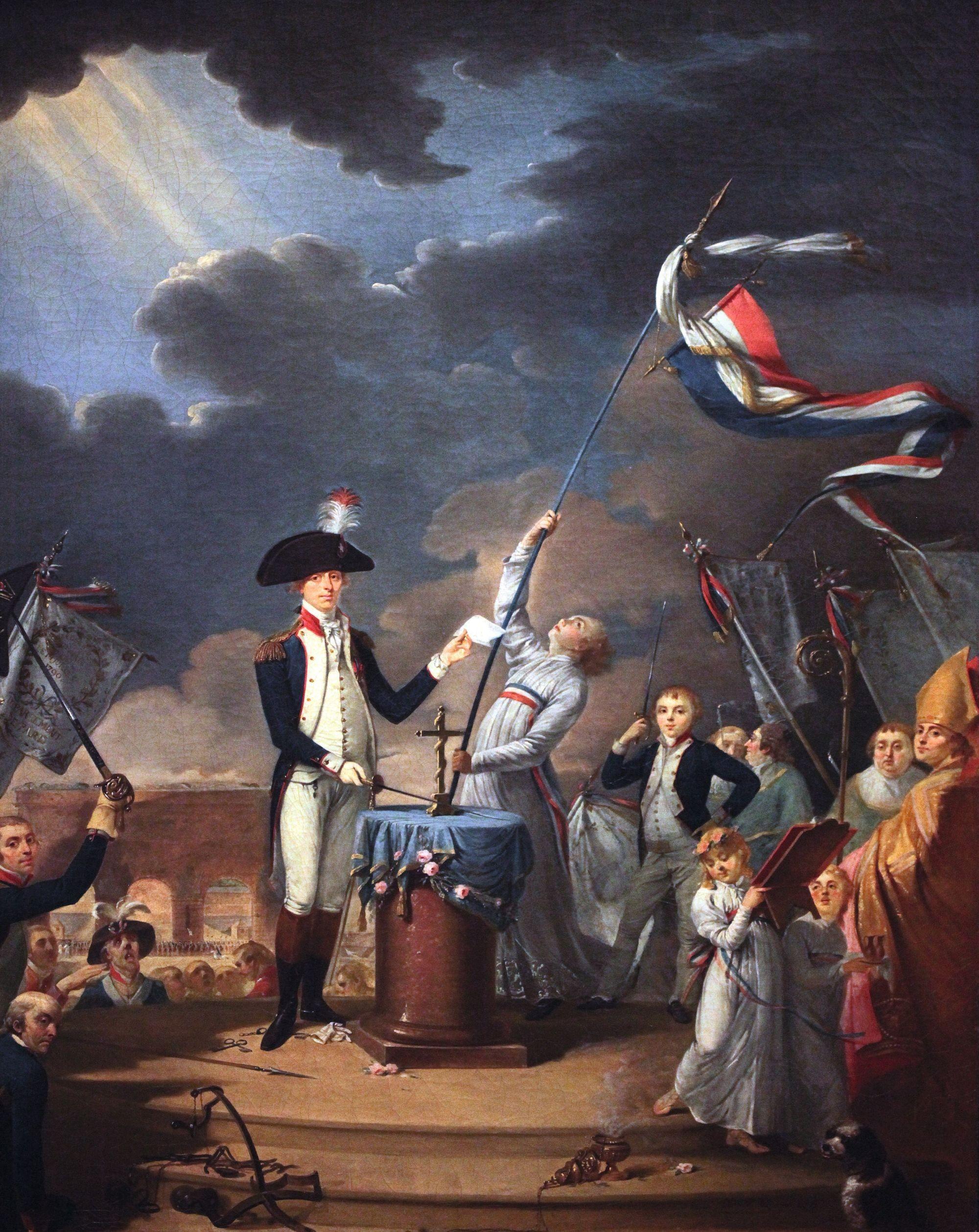 Louis David, Serment de La Fayette à la fête de la Fédération