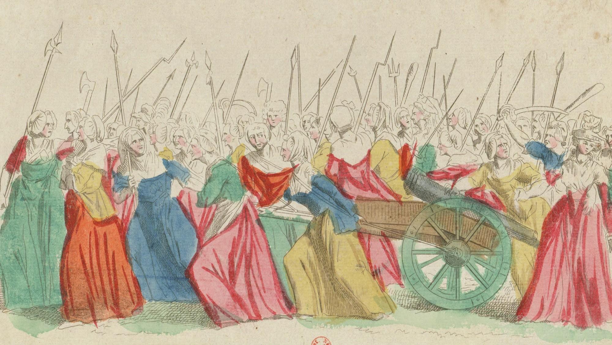 Les femmes durant les journées d'octobre