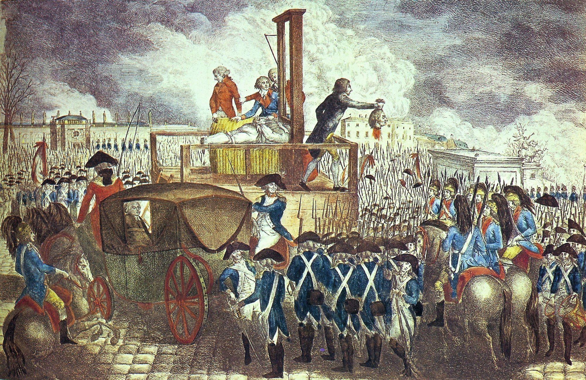 L'exécution de Louis XVI (1793)