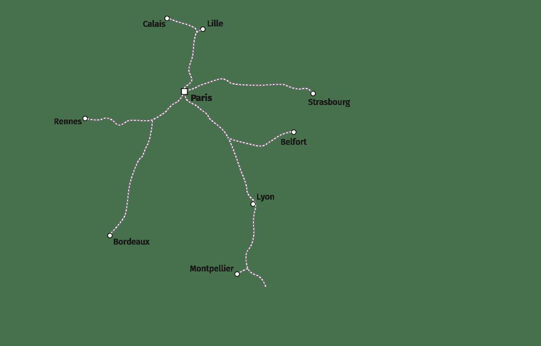 Ligne ferroviaire à grande vitesse (LGV)