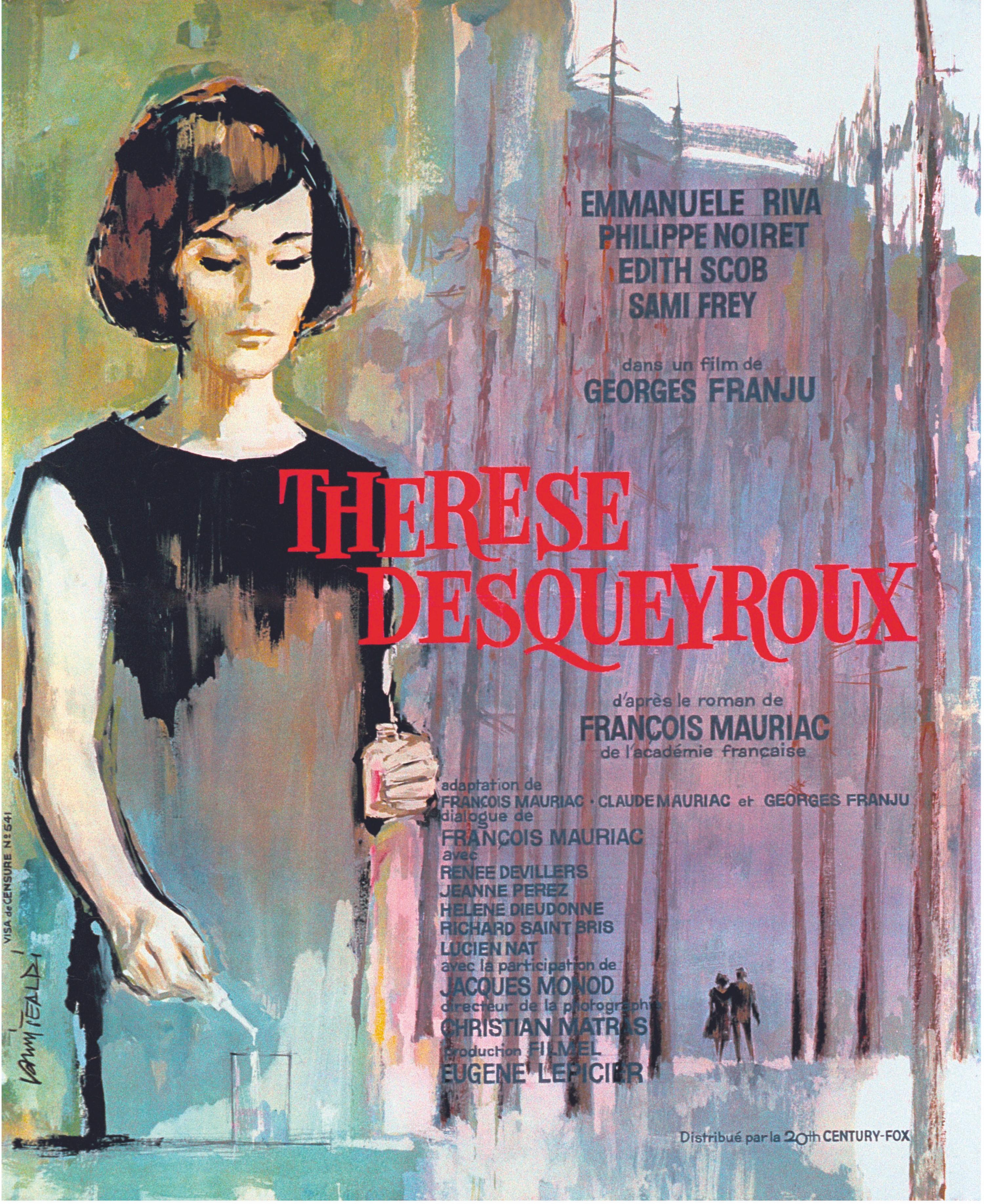 Affiche Georges Franju 1962 Thérèse Desqueyroux