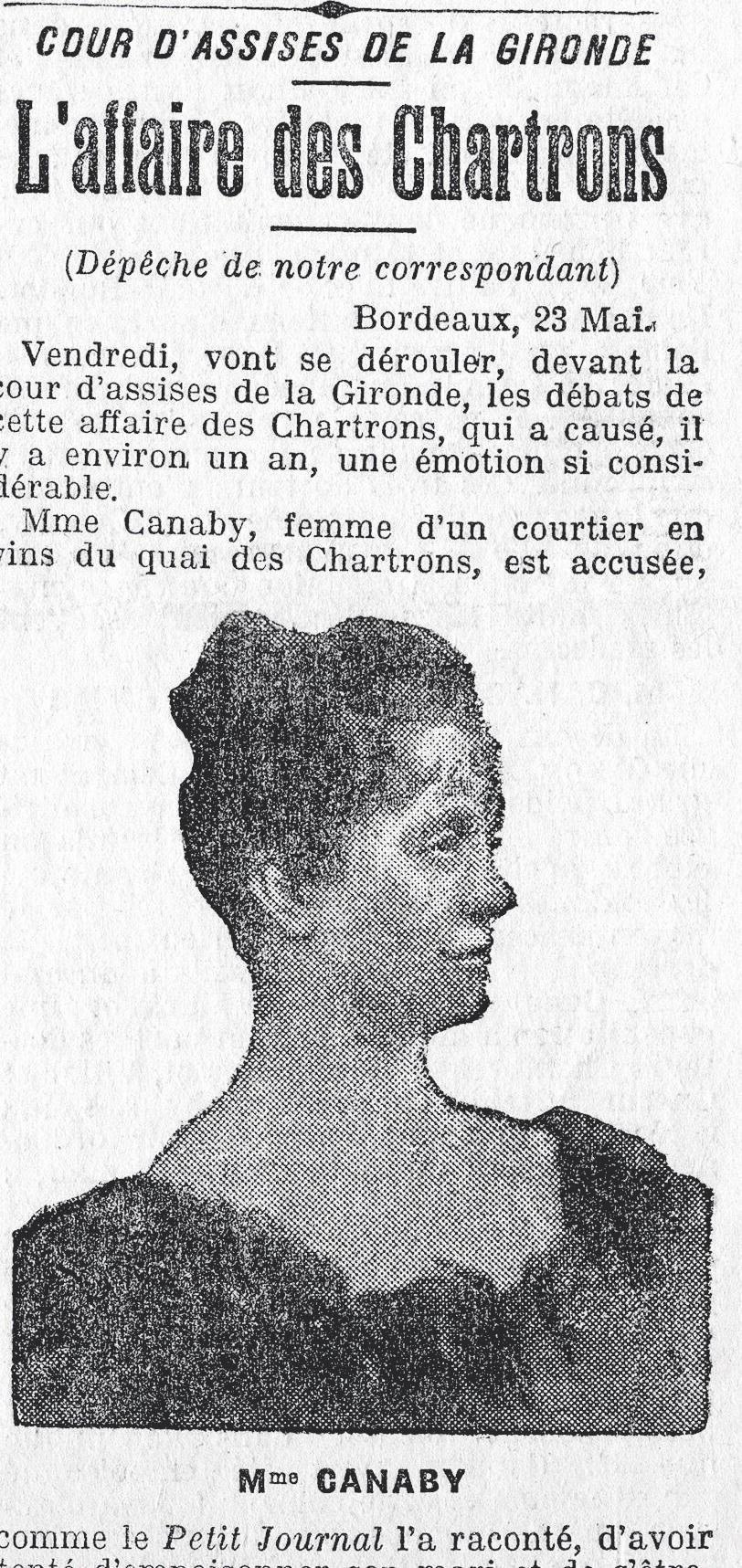 Article Petit Journal 24 mai 1906 affaire des chartrons