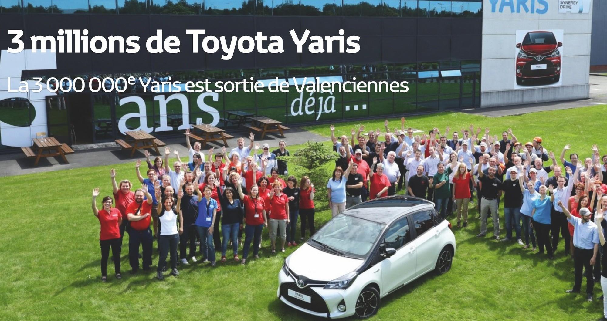 La Toyota Yaris est produite dans l'usine d'Onnaing, près de Valenciennes.
