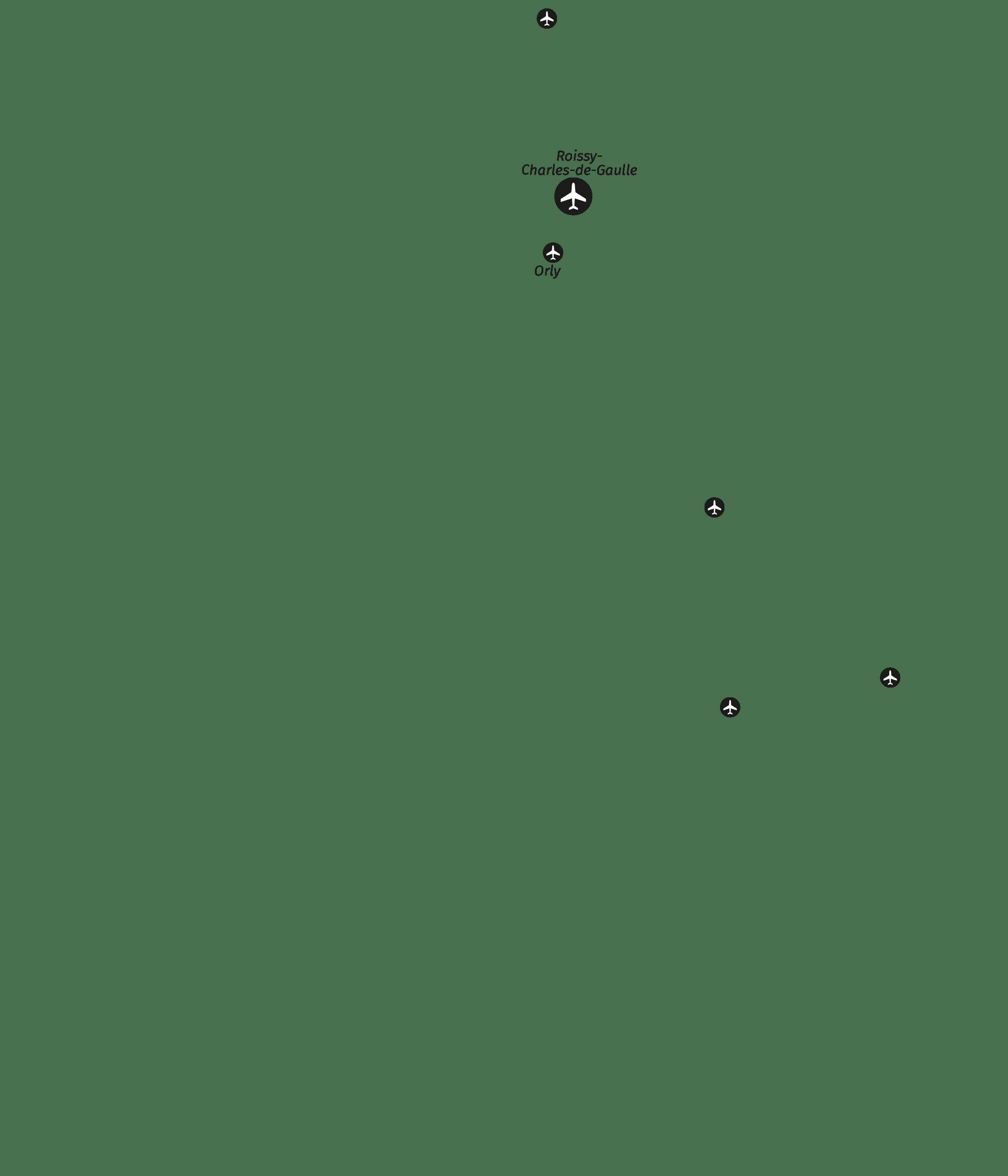Aéroports et axes de transport (texte)