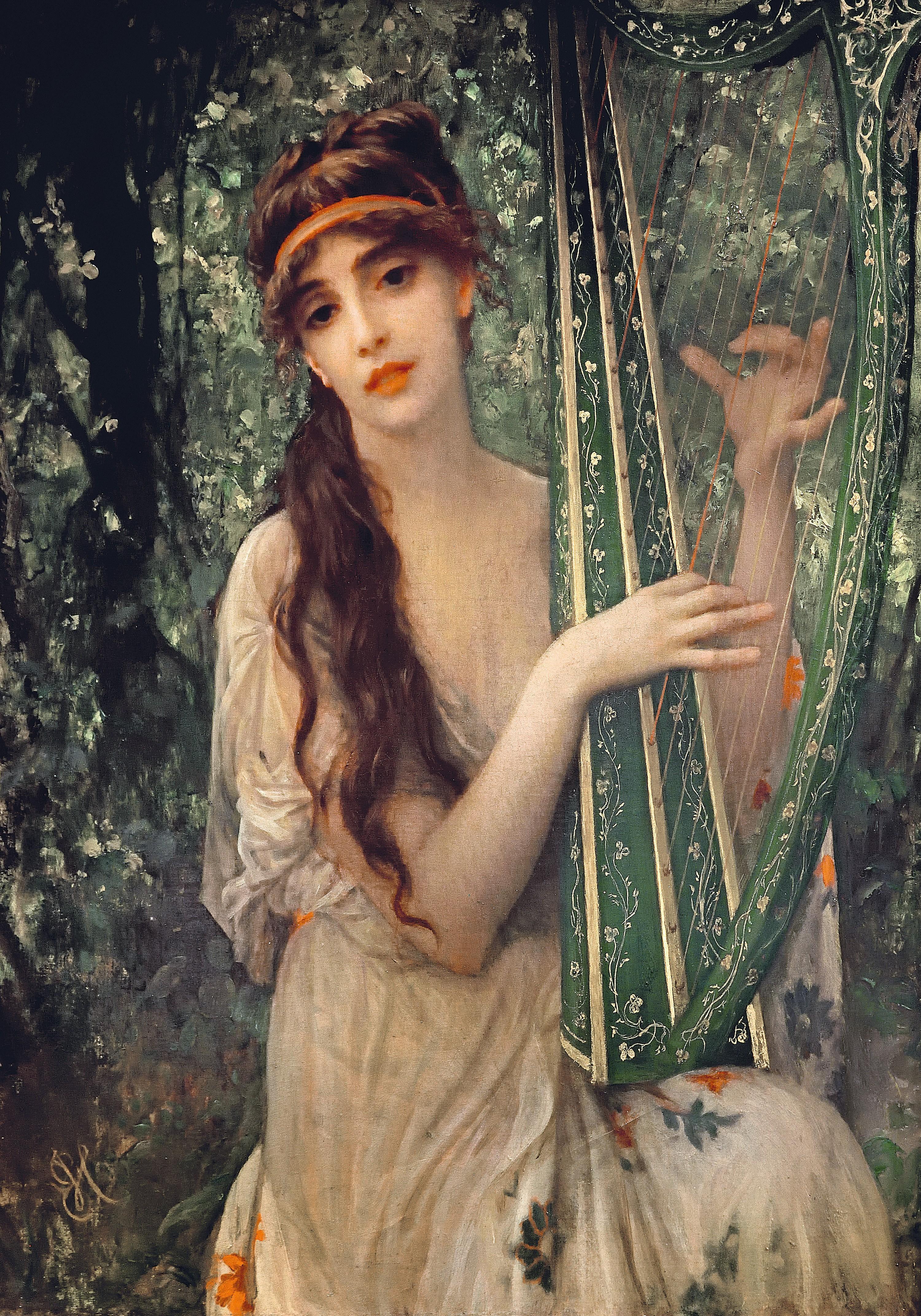 La Musique (1890), œuvre d'Ernest Hébert, peintre français