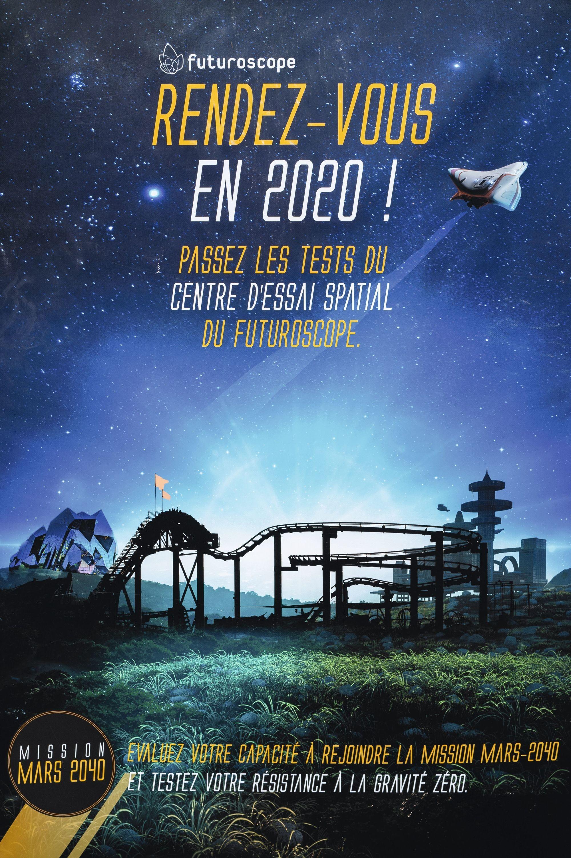 Affiches promotionnelles réalisées par le parc du Futuroscope, 2019