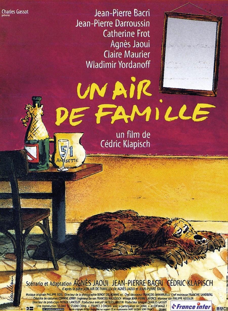 Affiche du film Un air de famille, de Philippe Vuillemin, 1996.
