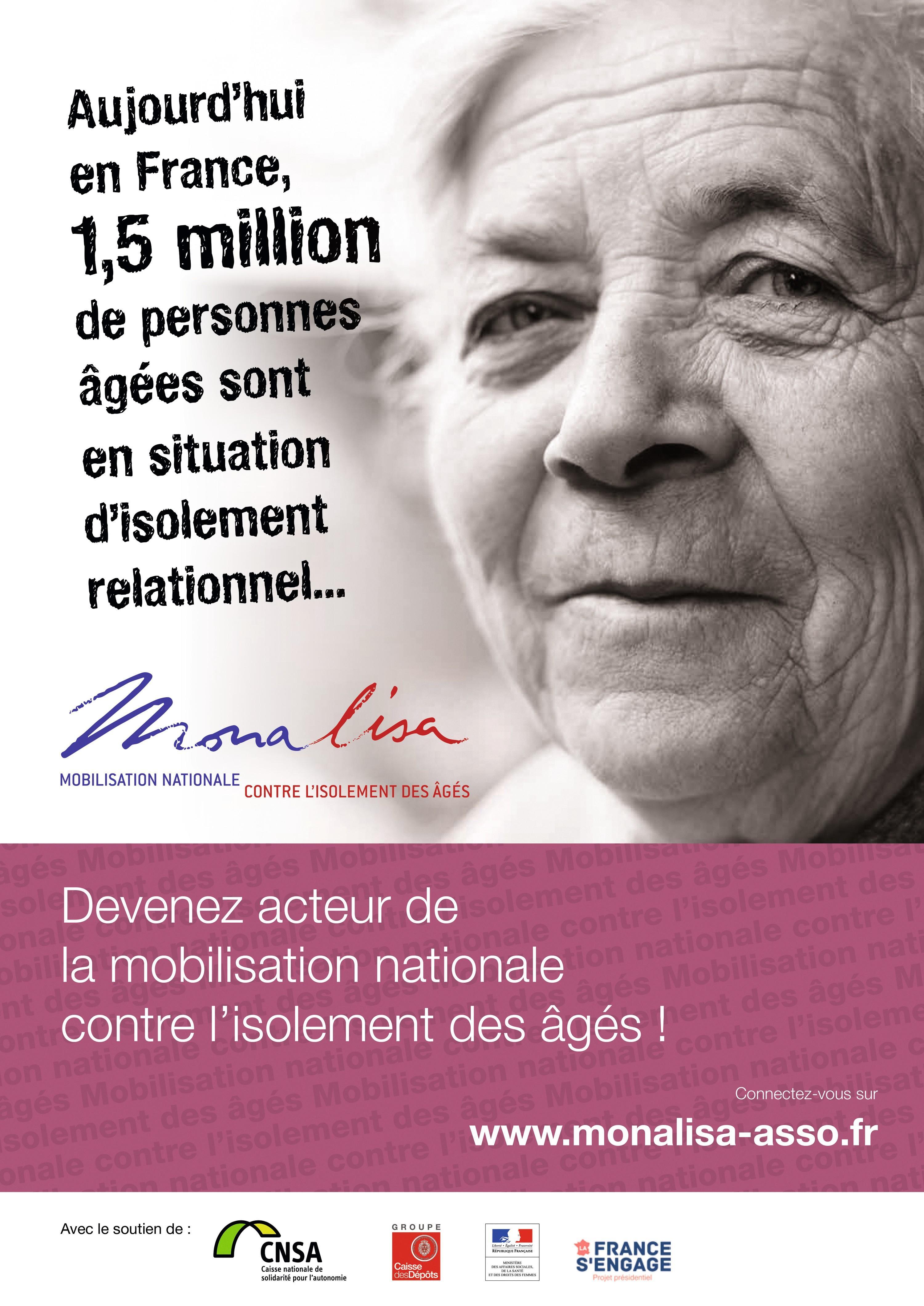 L'association Monalisa agit contre l'isolement des personnes âgées en France.