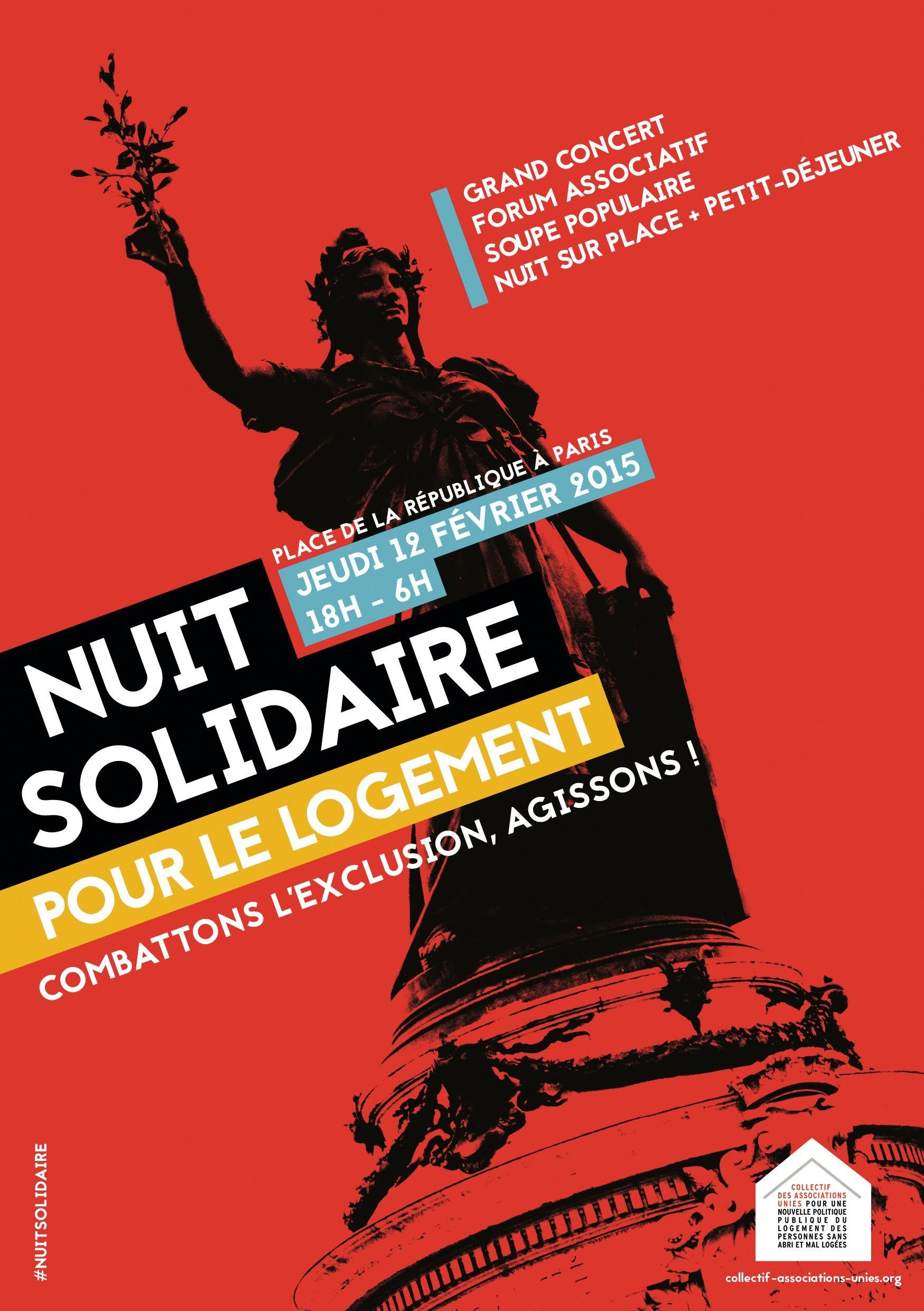 Affiche pour un événement associatif de lutte contre l'exclusion.