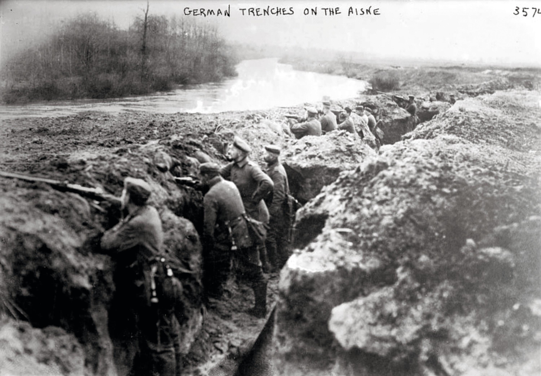 Tranchées allemandes dans l'Aisne, photographie anonyme