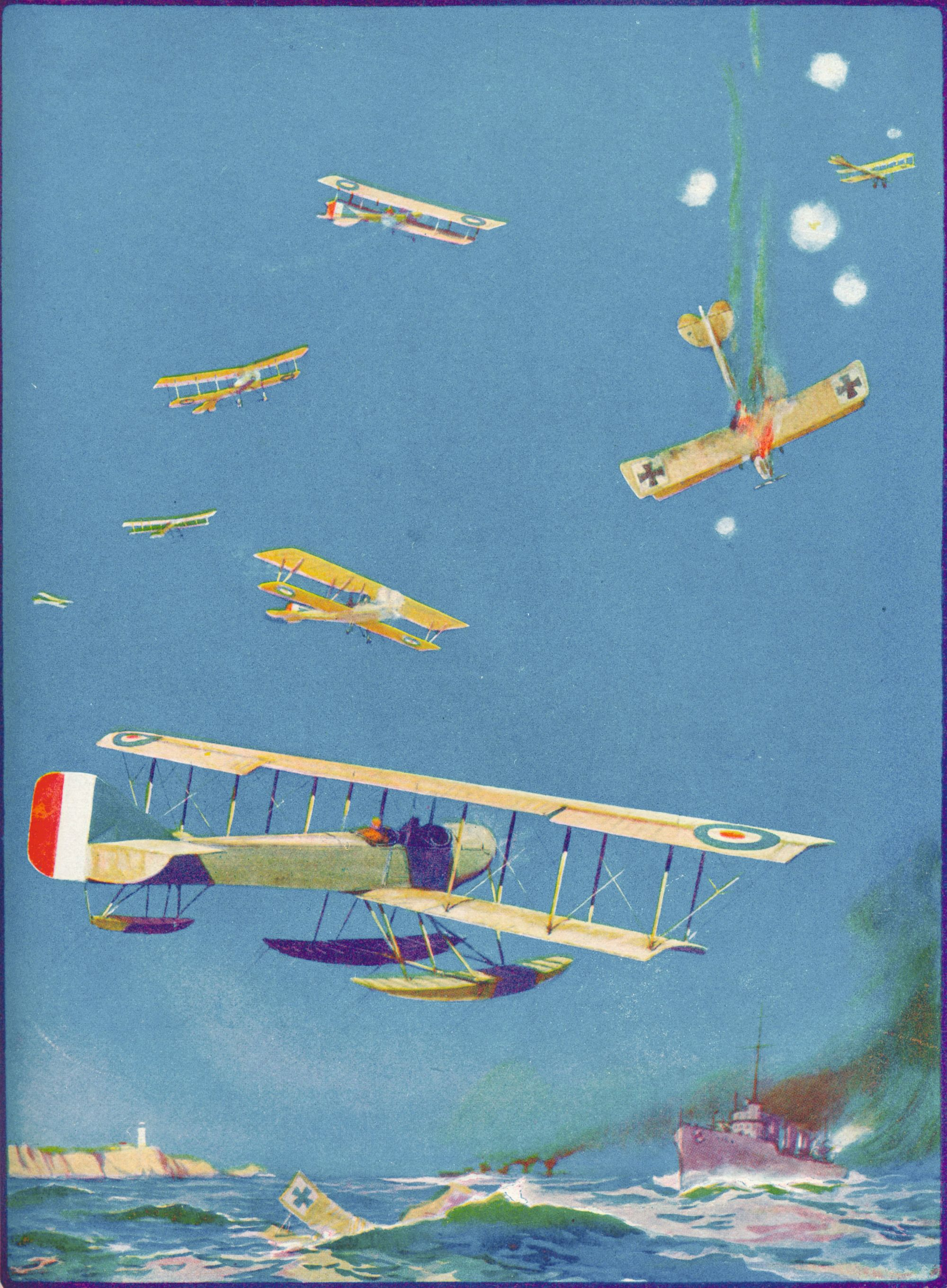 « Défense des côtes », illustration dans The Wonder Book of Aircraft for Boys and Girls, 1919