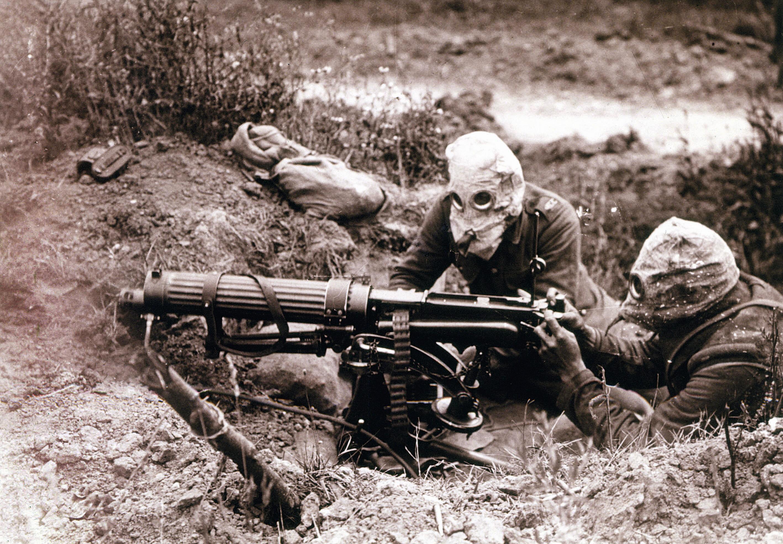 Soldats britanniques pendant la bataille de la Somme