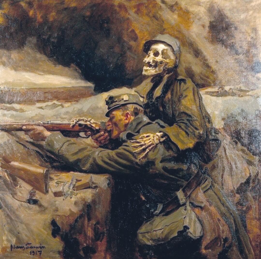 Hans Larwin, Le Soldat et la Mort