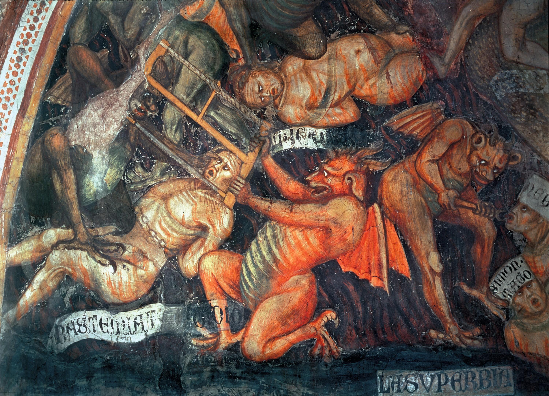 Tadeo di Bartolo, Enfer (détail), 1394, fresque, Collégiale de Santa Maria Assunta, San Gimignano, Italie.