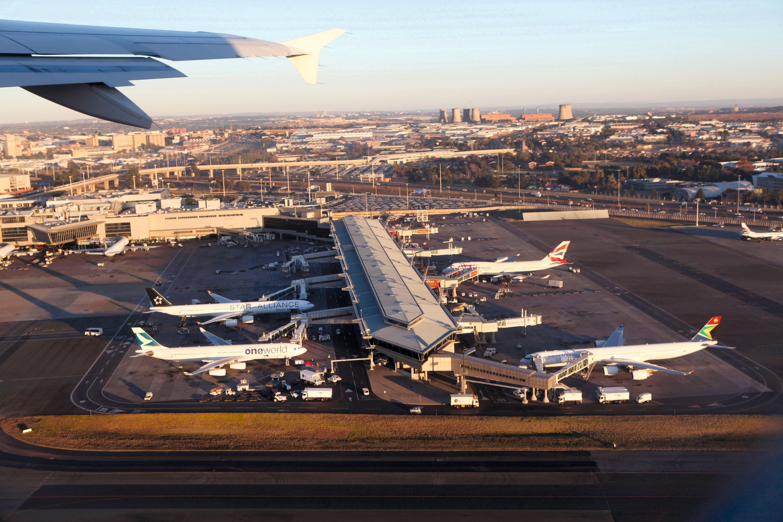 L'aéroport de Johannesburg