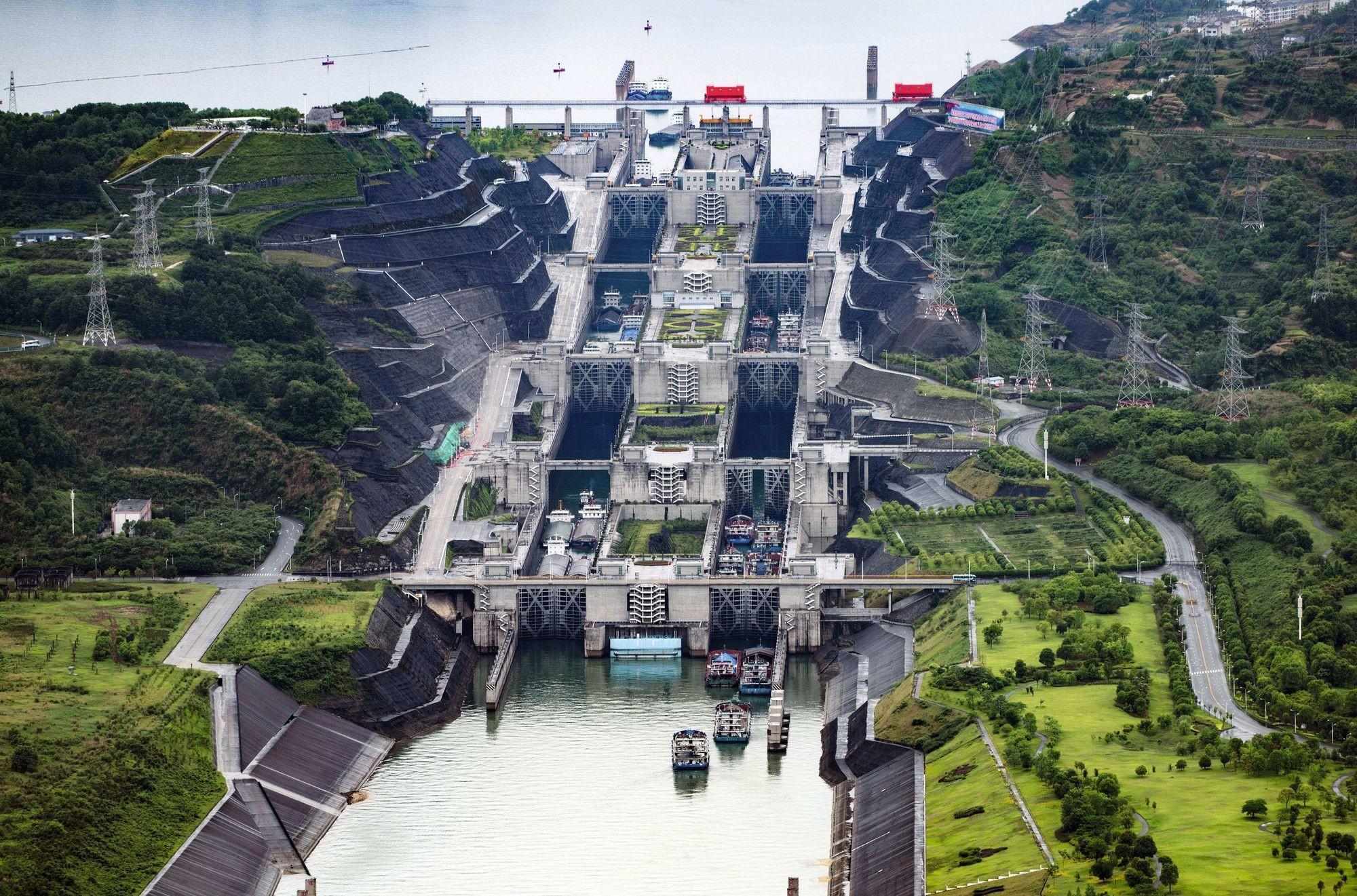 Le barrage des Trois-Gorges sur le fleuve Yangtse