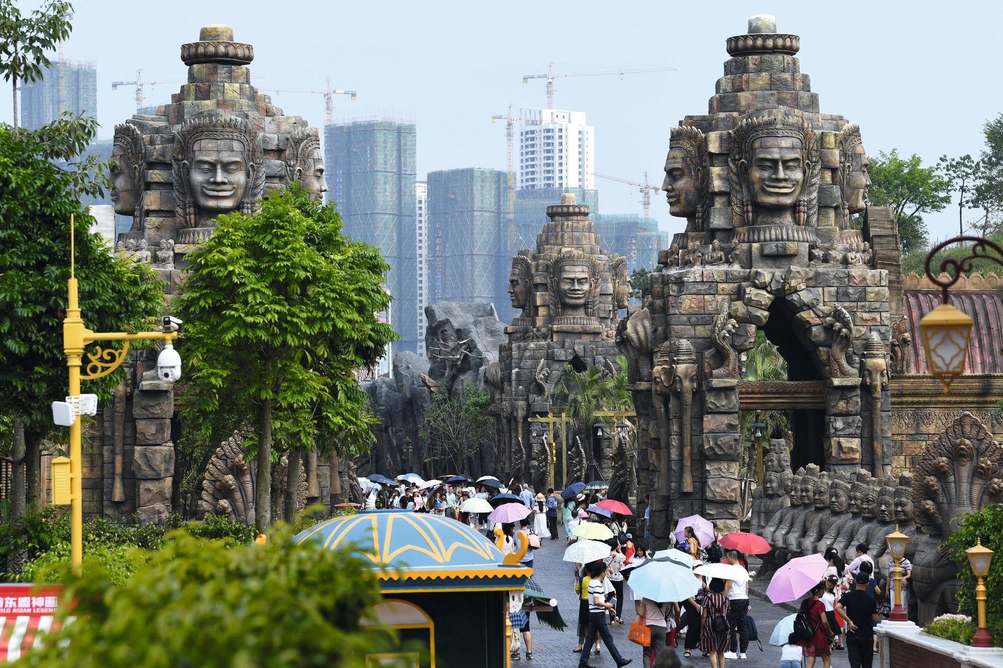 Reproduction d'Angkor Vat dans un parc à thème à Nanning (Guangxi)