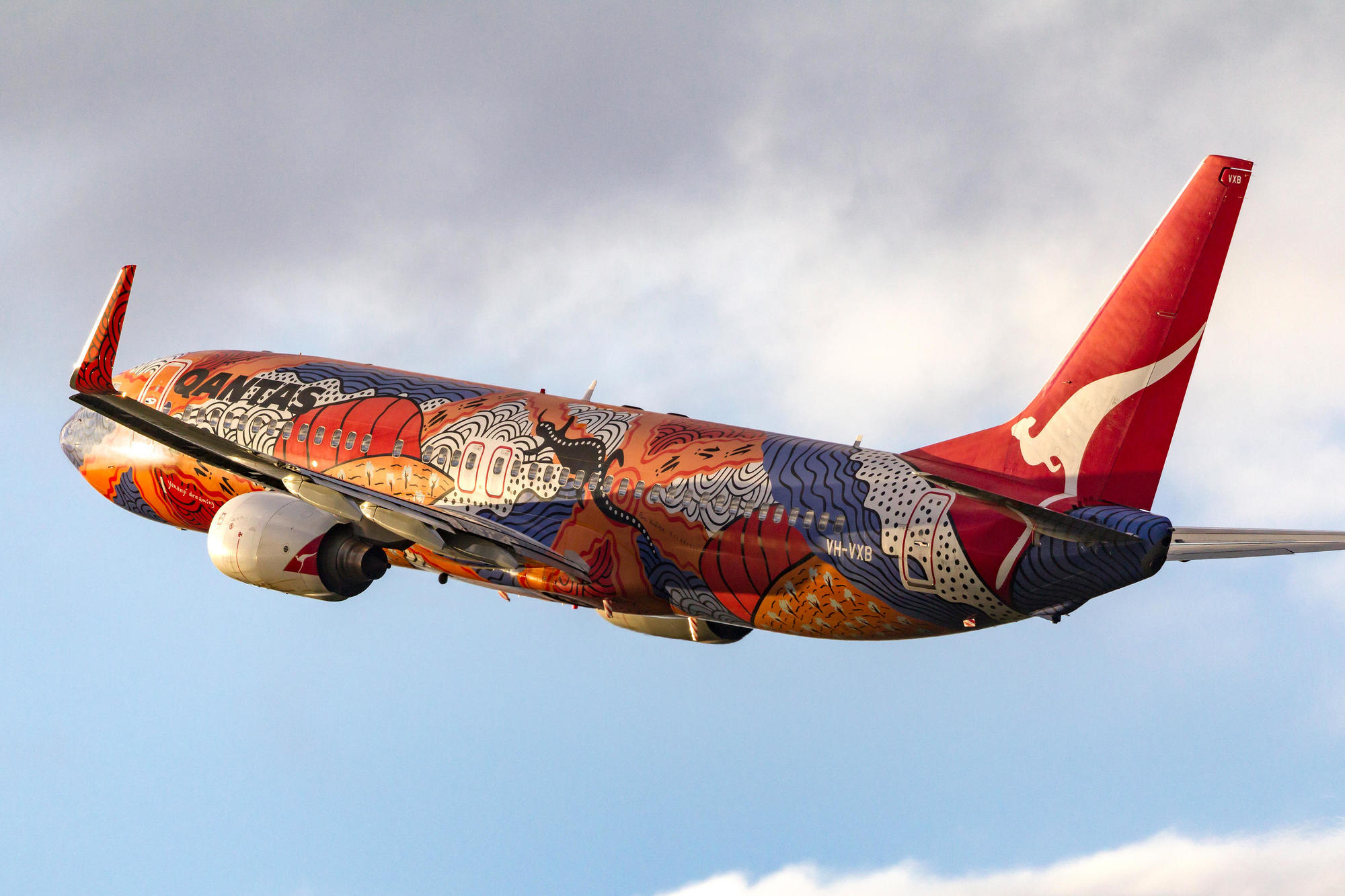 A plane of the Qantas Airline Company, 2011.