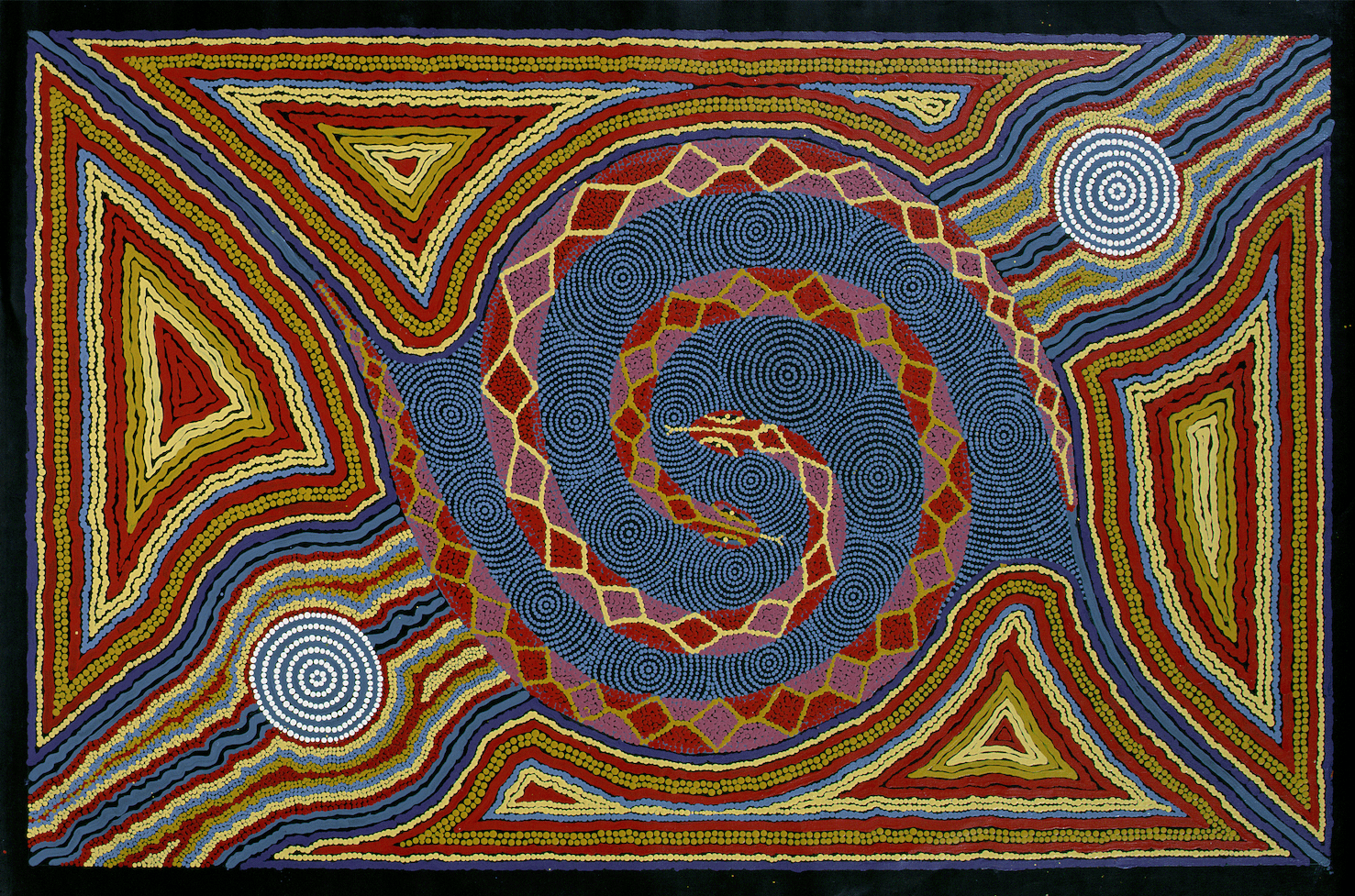 Australian Aboriginal painting, Horniman Museum, UK.