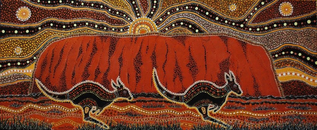Uluru, Danny Eastwood, Karlangu Aboriginal Art Center, 2017.
