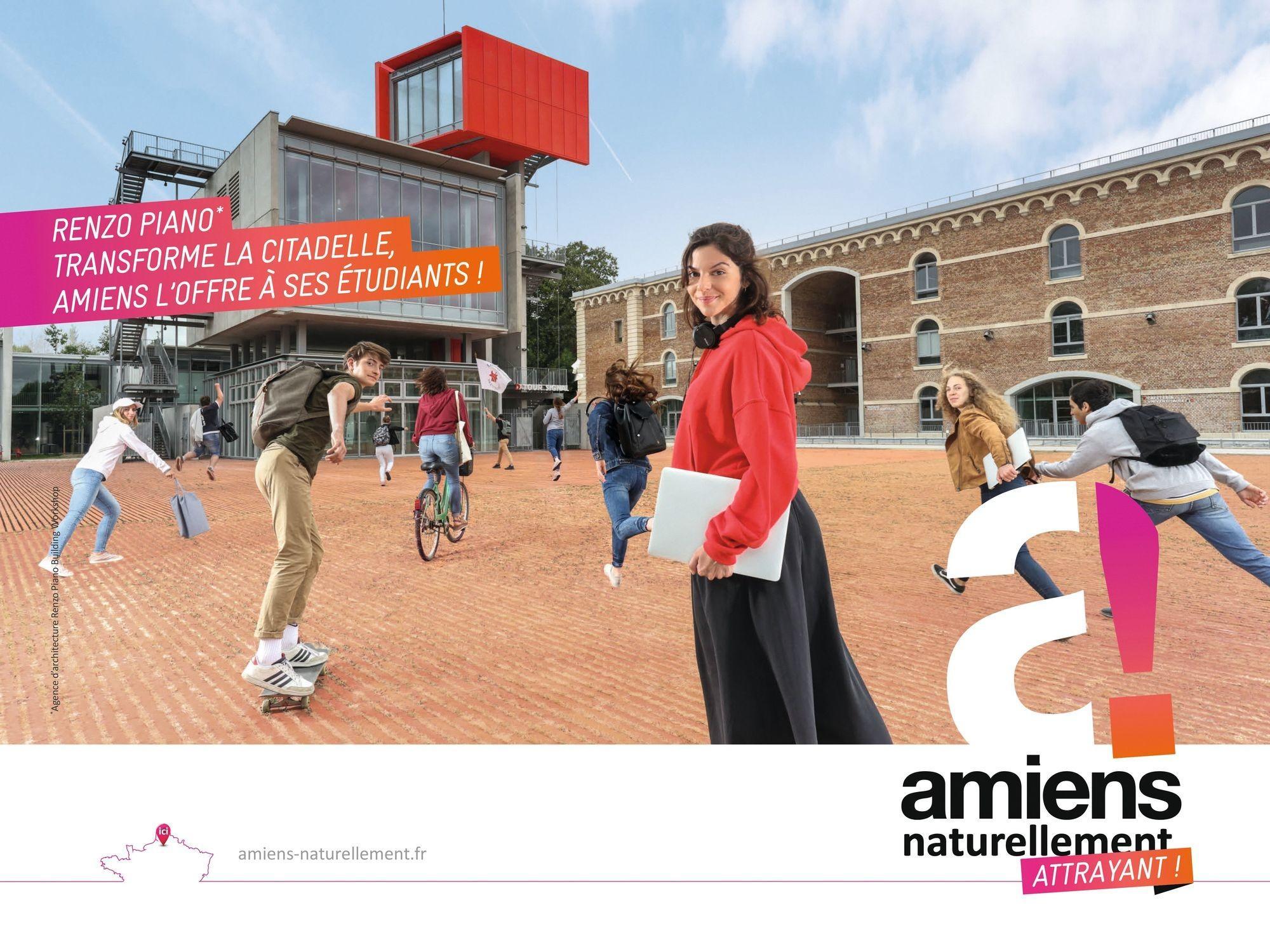 Campagne de marketing territorial de la métropole d'Amiens : Renzo Piano transforme la citadelle