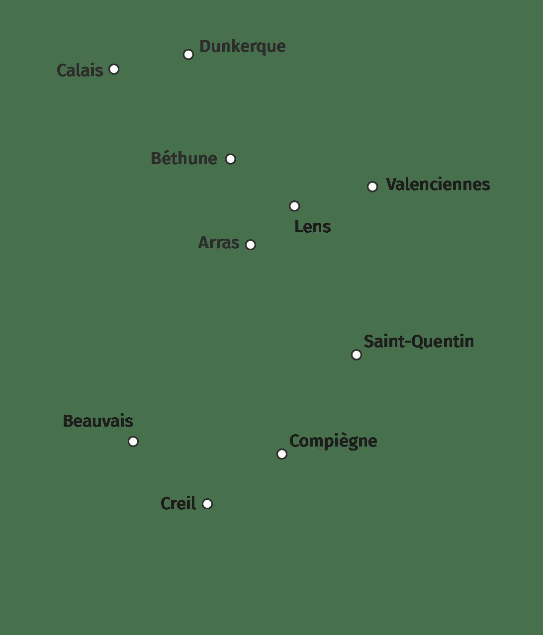 Principales villes de la région