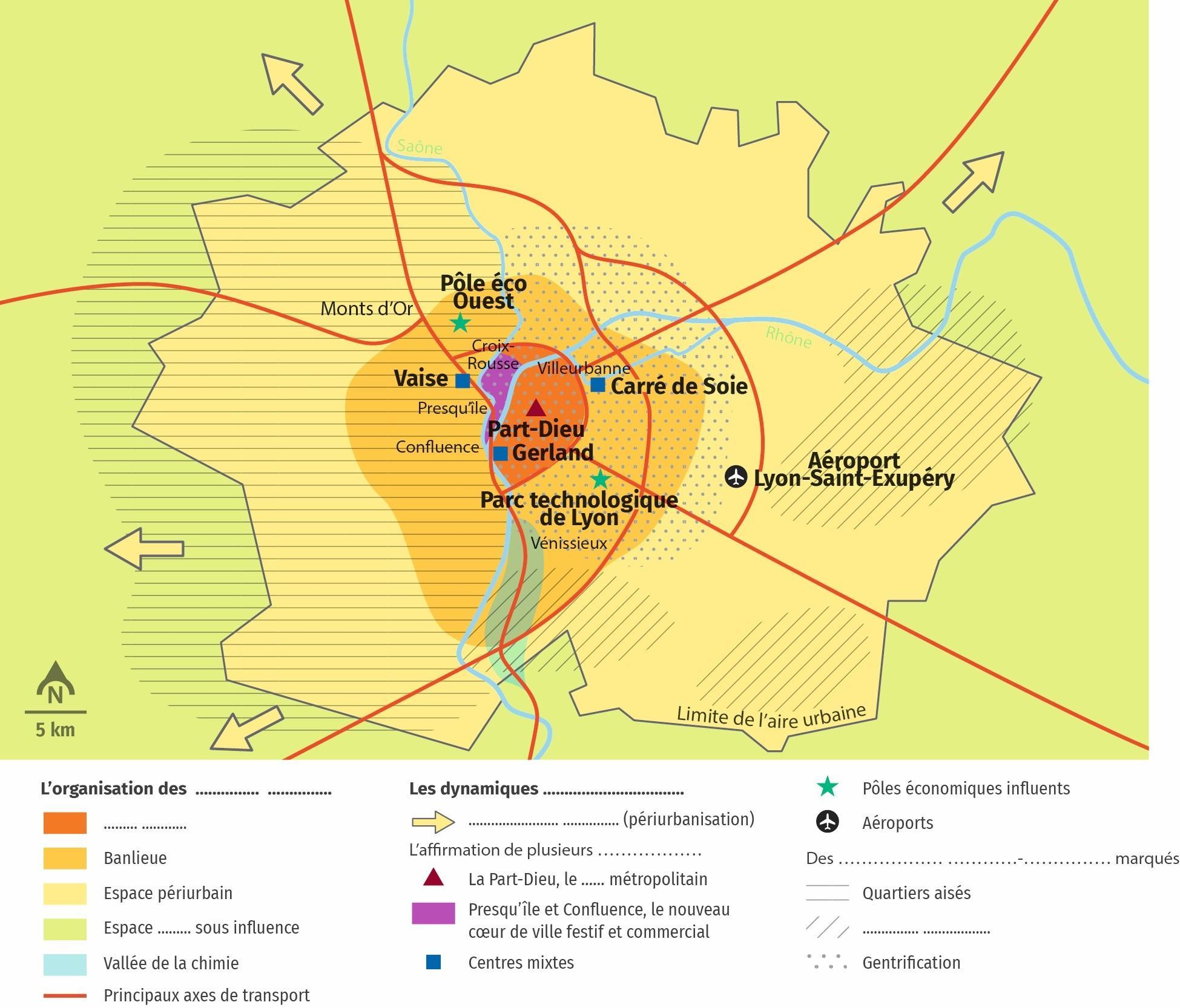 Lyon : les mutations d'une métropole