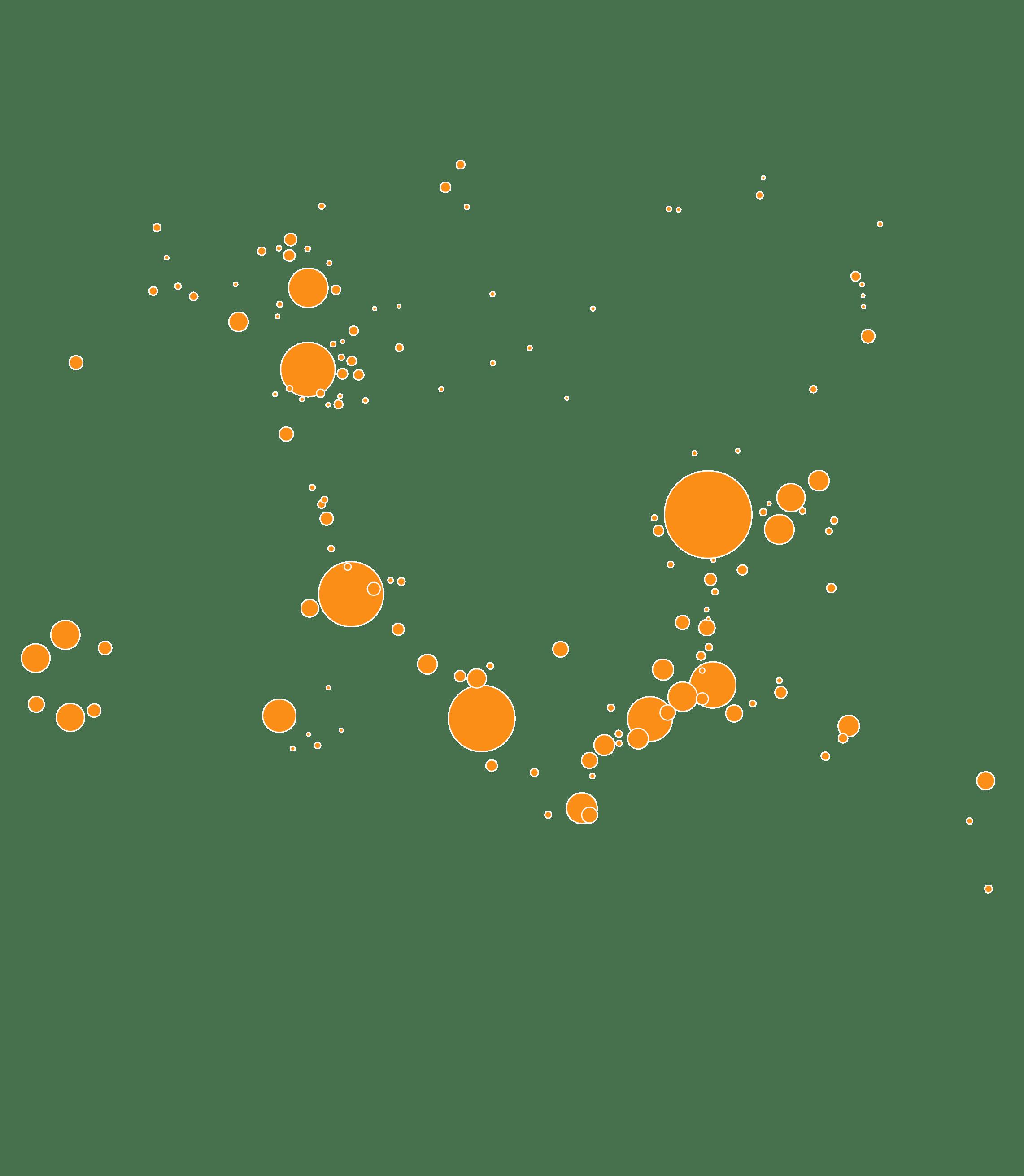 Aires urbaines gagnant des habitants