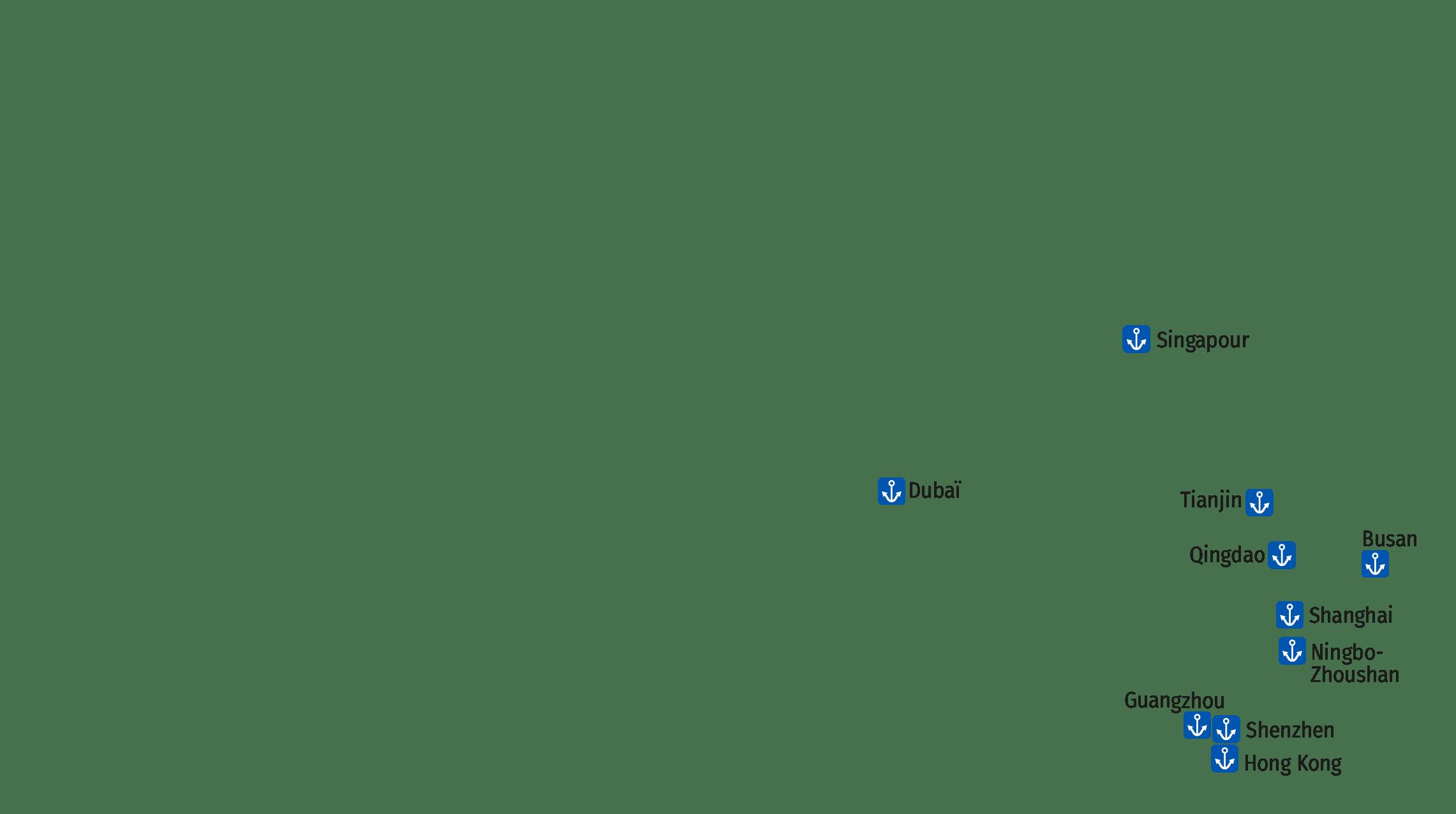 principaux ports de conteneurs