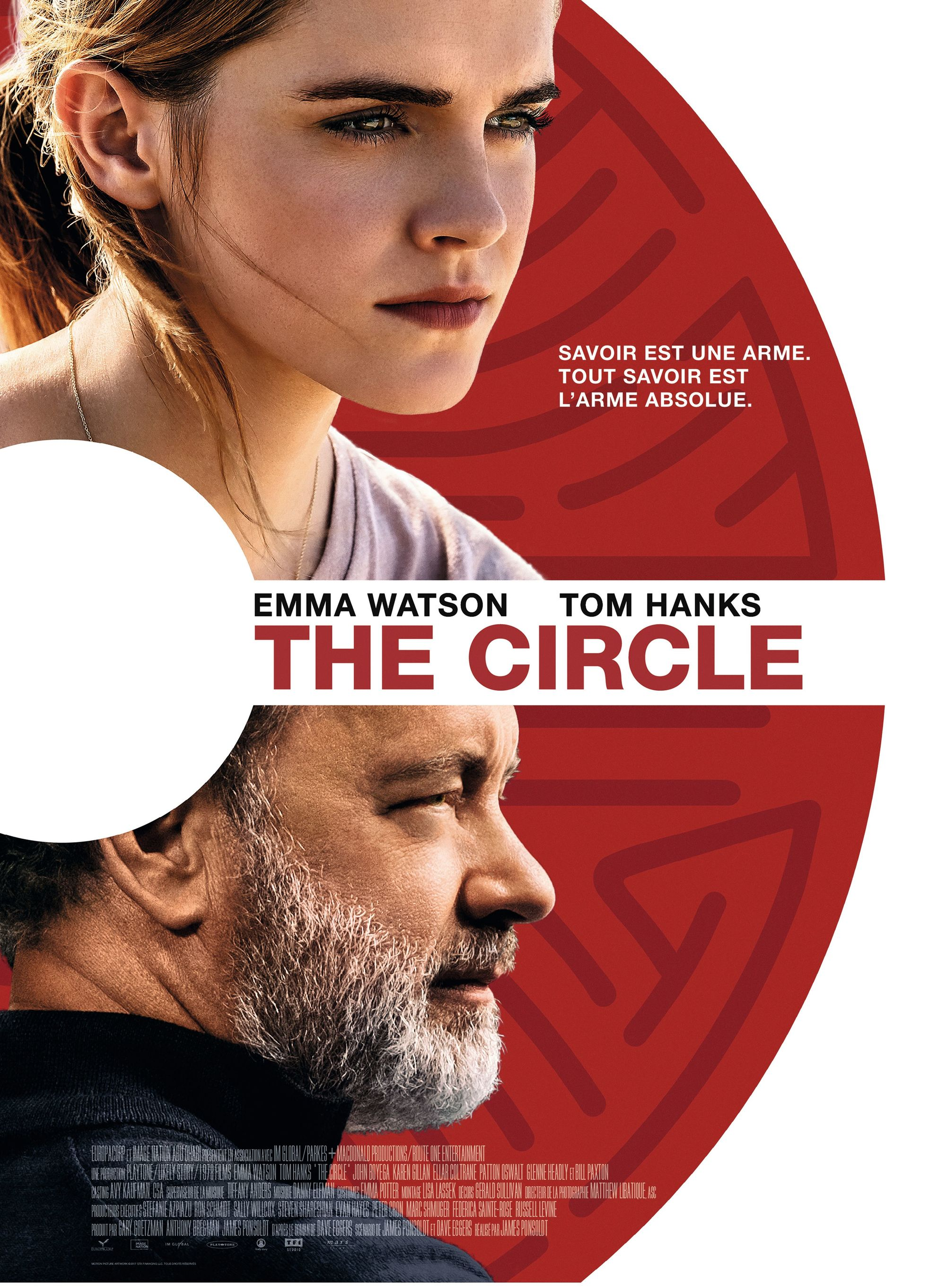 The Circle, de James Ponsoldt, 2017 (adapté d'un livre de Dave Eggers).