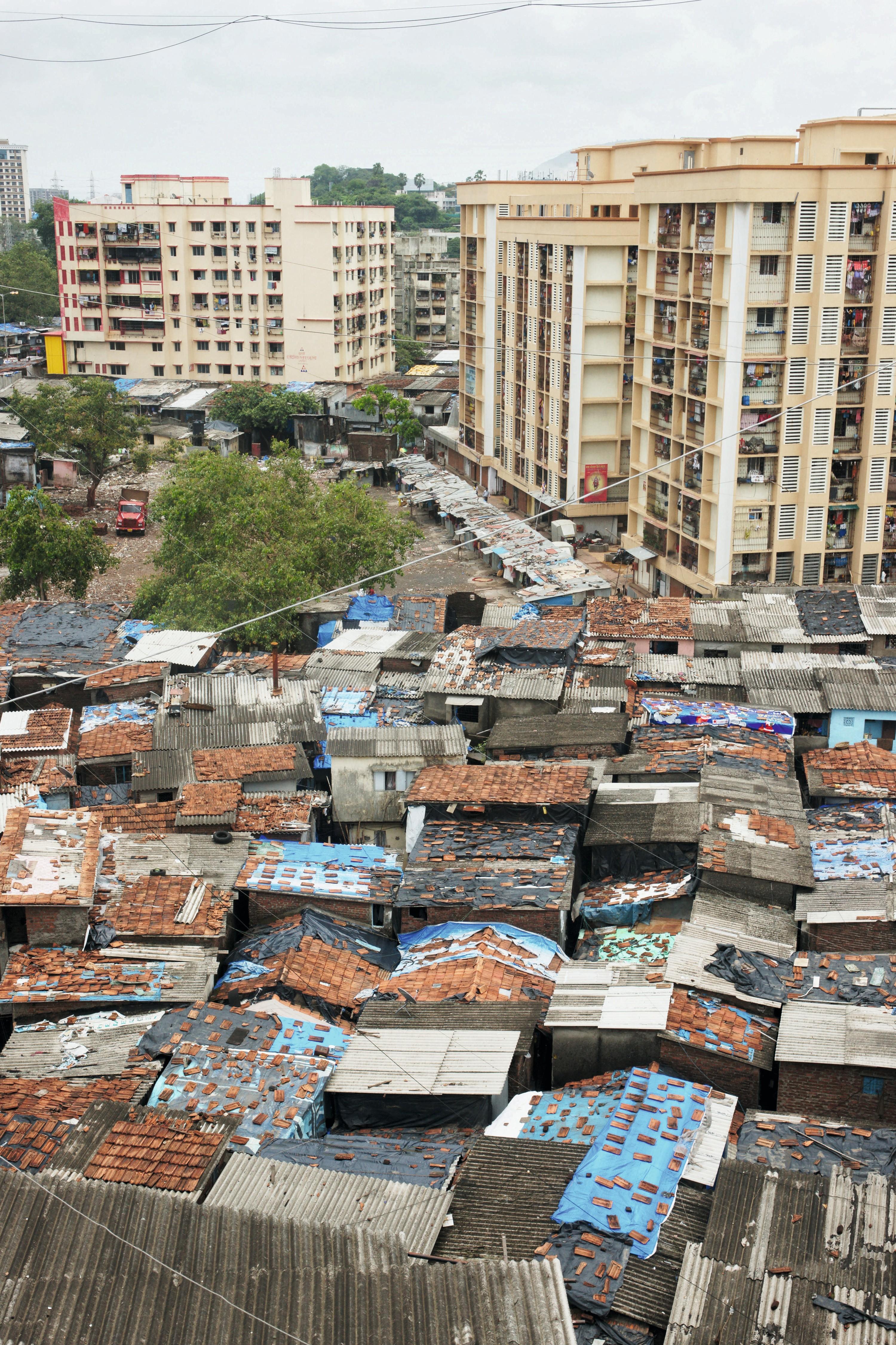 Chris Martin, Vue du bidonville Dharavi, à Mumbai, en Inde.