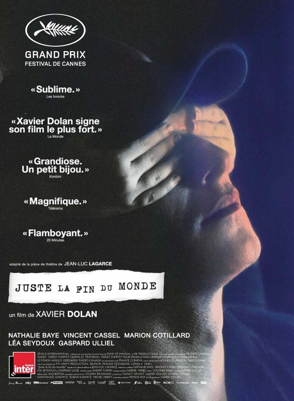 Juste la fin du monde de Xavier Dolan, couverture