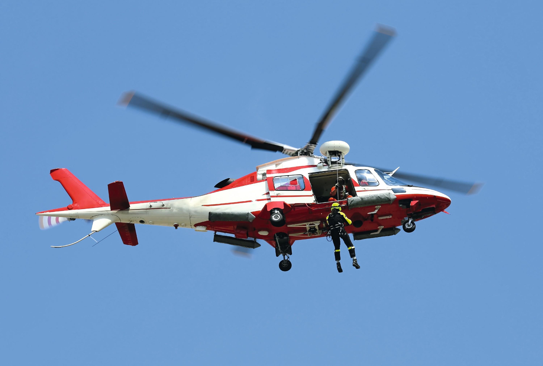 Treuil d'un hélicoptère