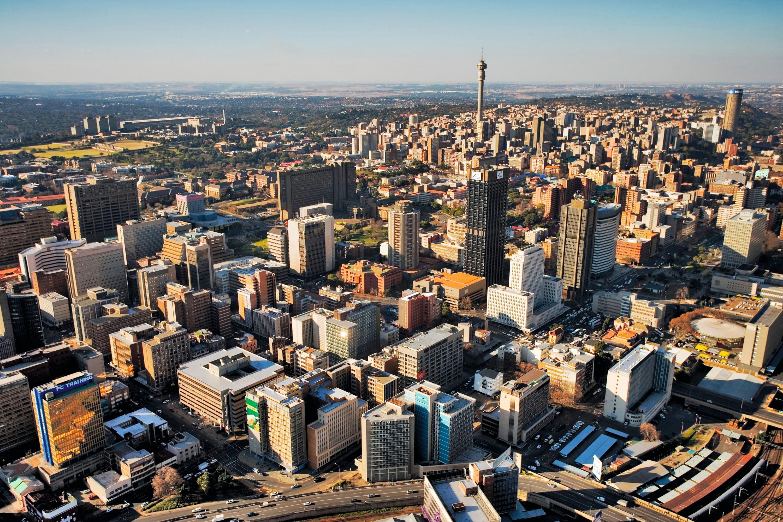 Le CBD de Johannesburg