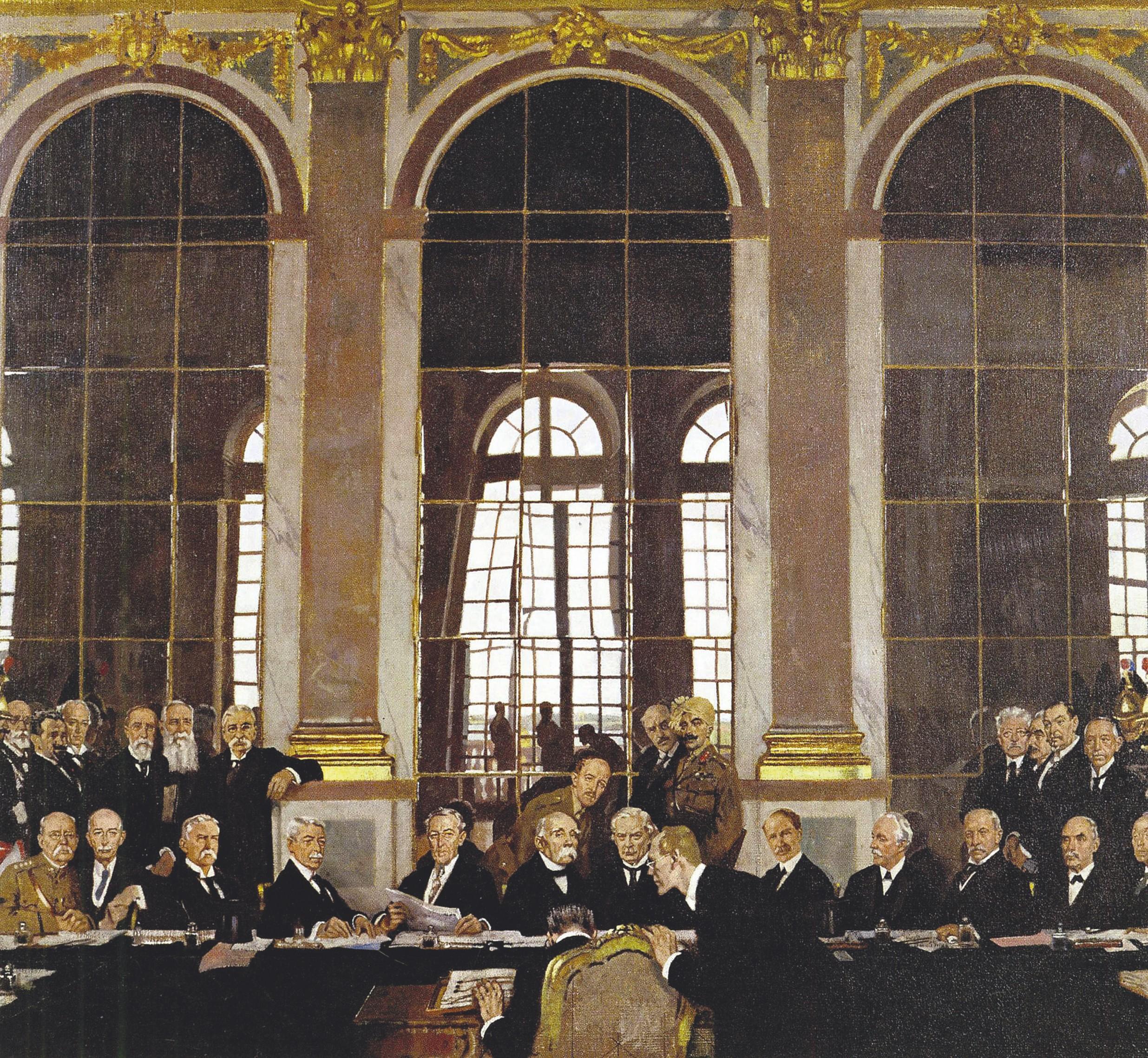 William Orpen, Signature du traité de Versailles dans la galerie des Glaces