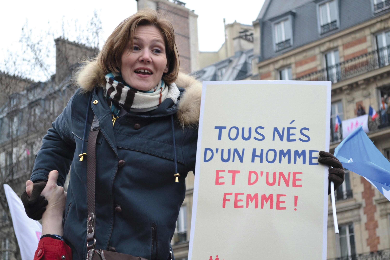 Manifestation contre le « mariage pour tous », à Paris, le 24 mars 2013.
