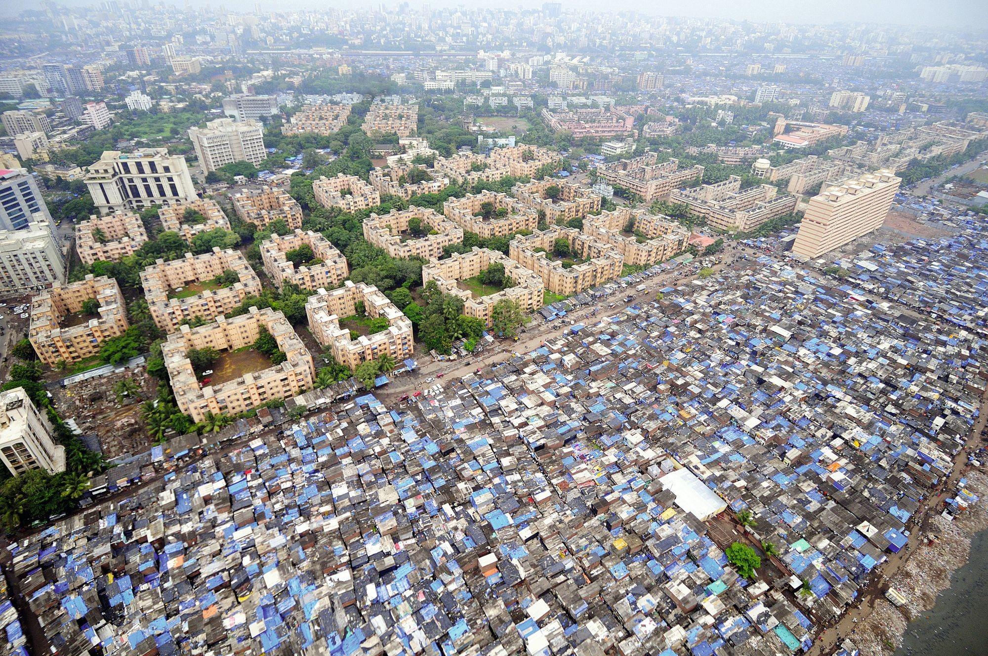 Des inégalités visibles dans le paysage de Mumbai