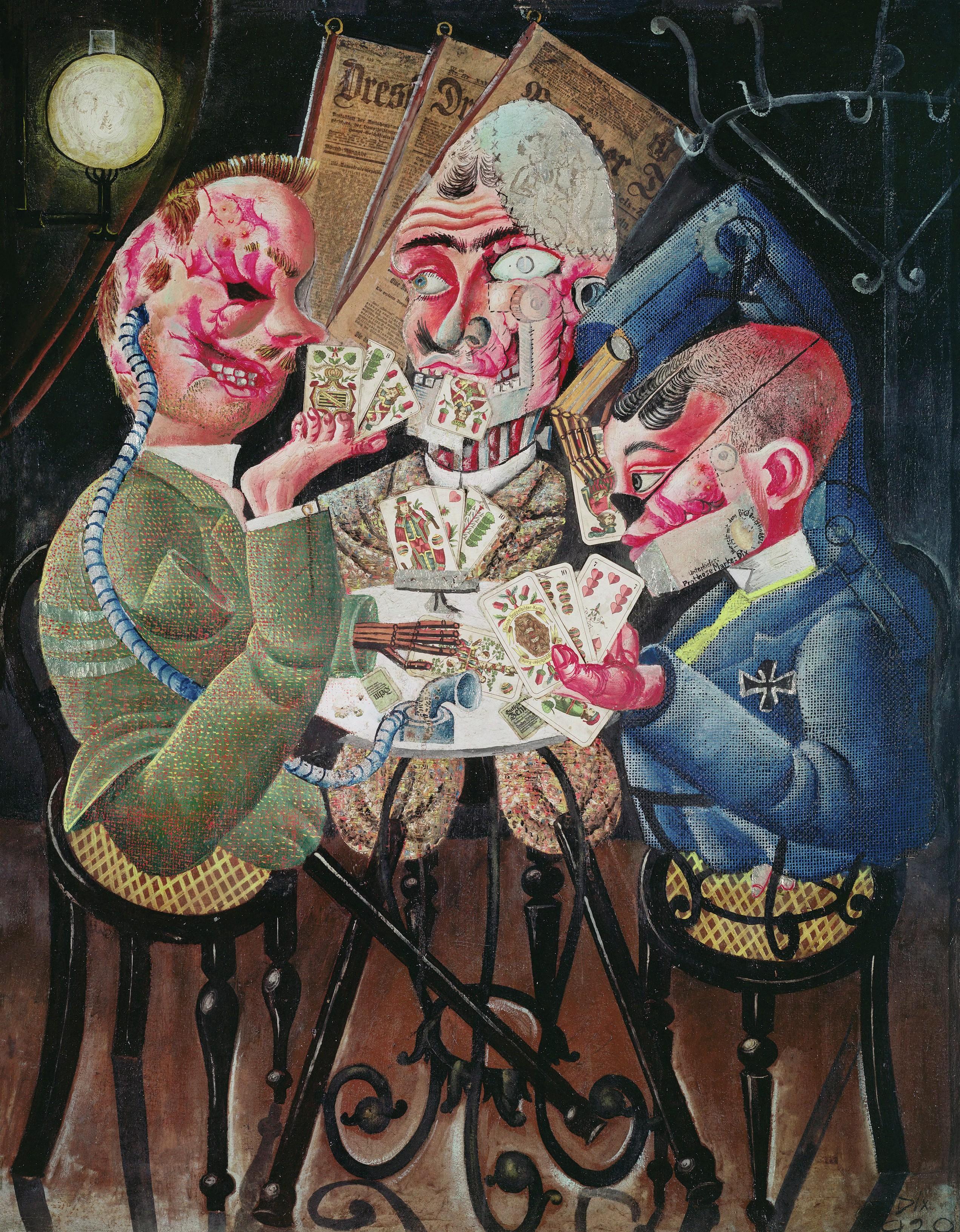 Otto Dix, Les joueurs de skat, 1920