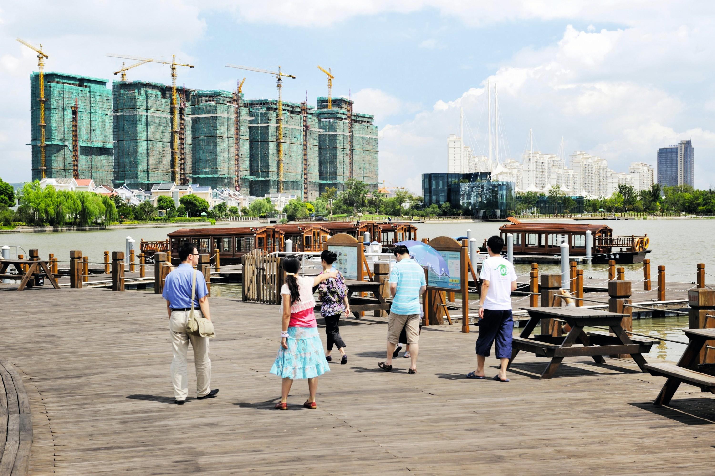 La ville nouvelle de Chongming, près de Shanghai
